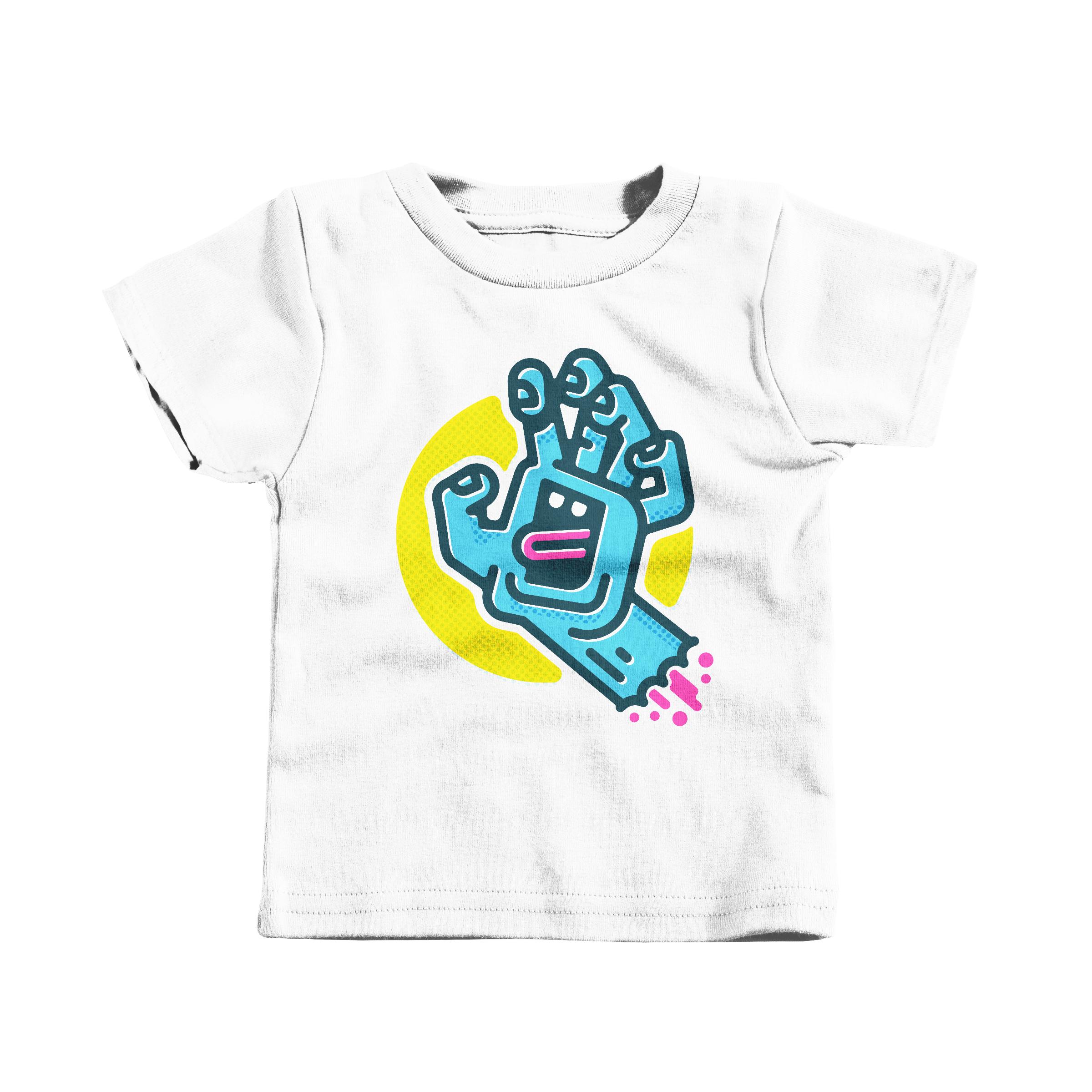 Screaming Hand White (T-Shirt)