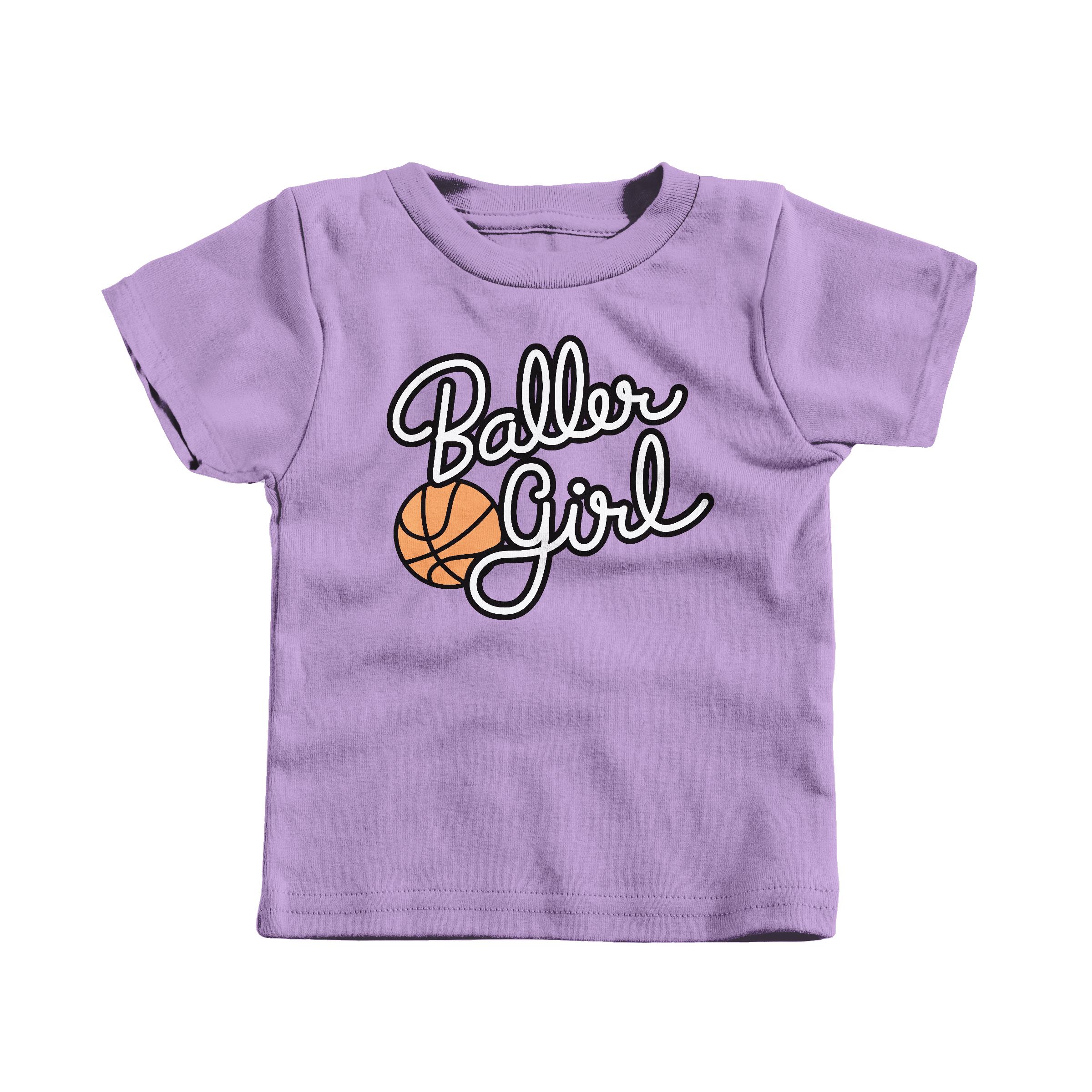 Baller Girl Lavender (T-Shirt)