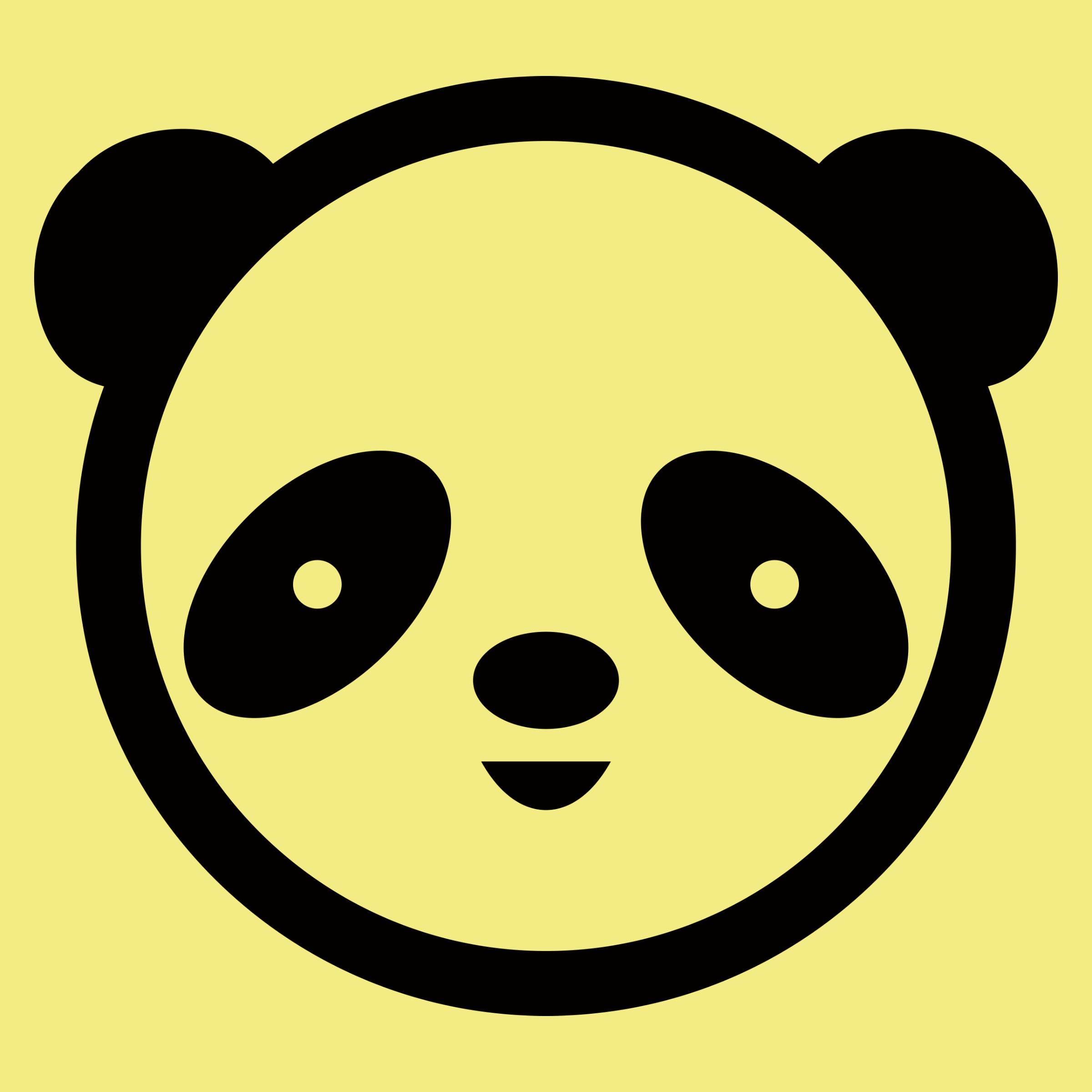Panda Face Detail