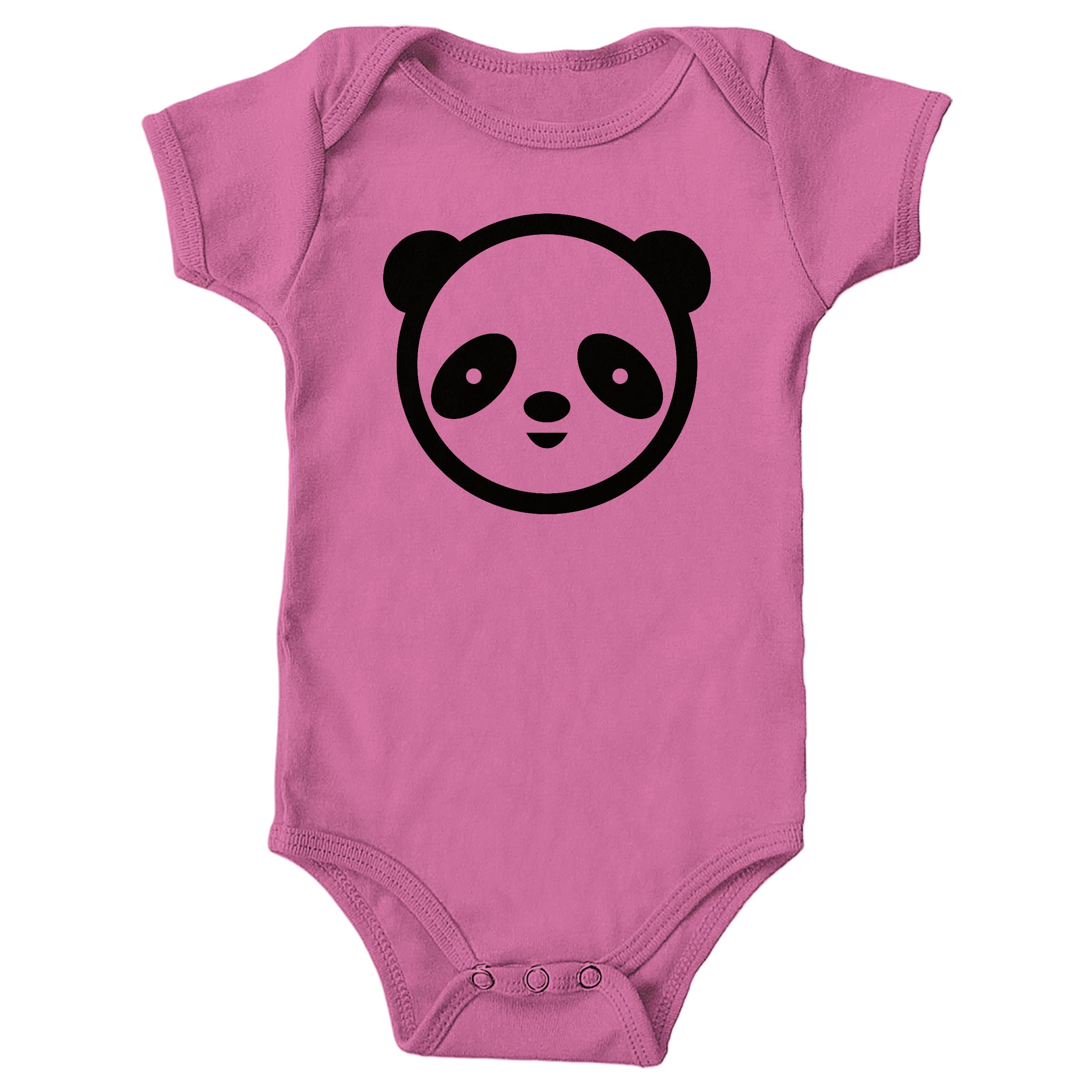 Panda Face Raspberry (Onesie)