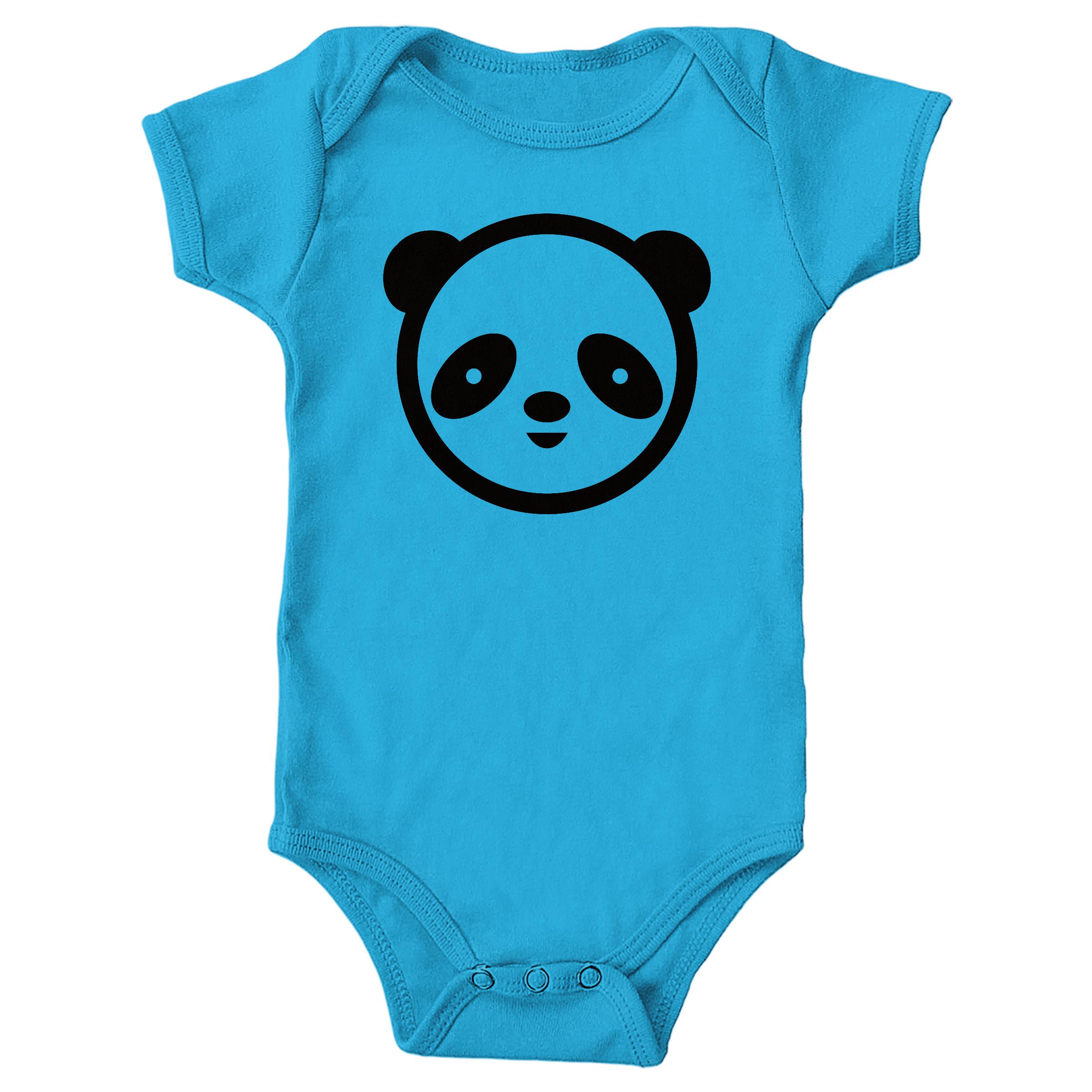 Panda Face Turquoise (Onesie)