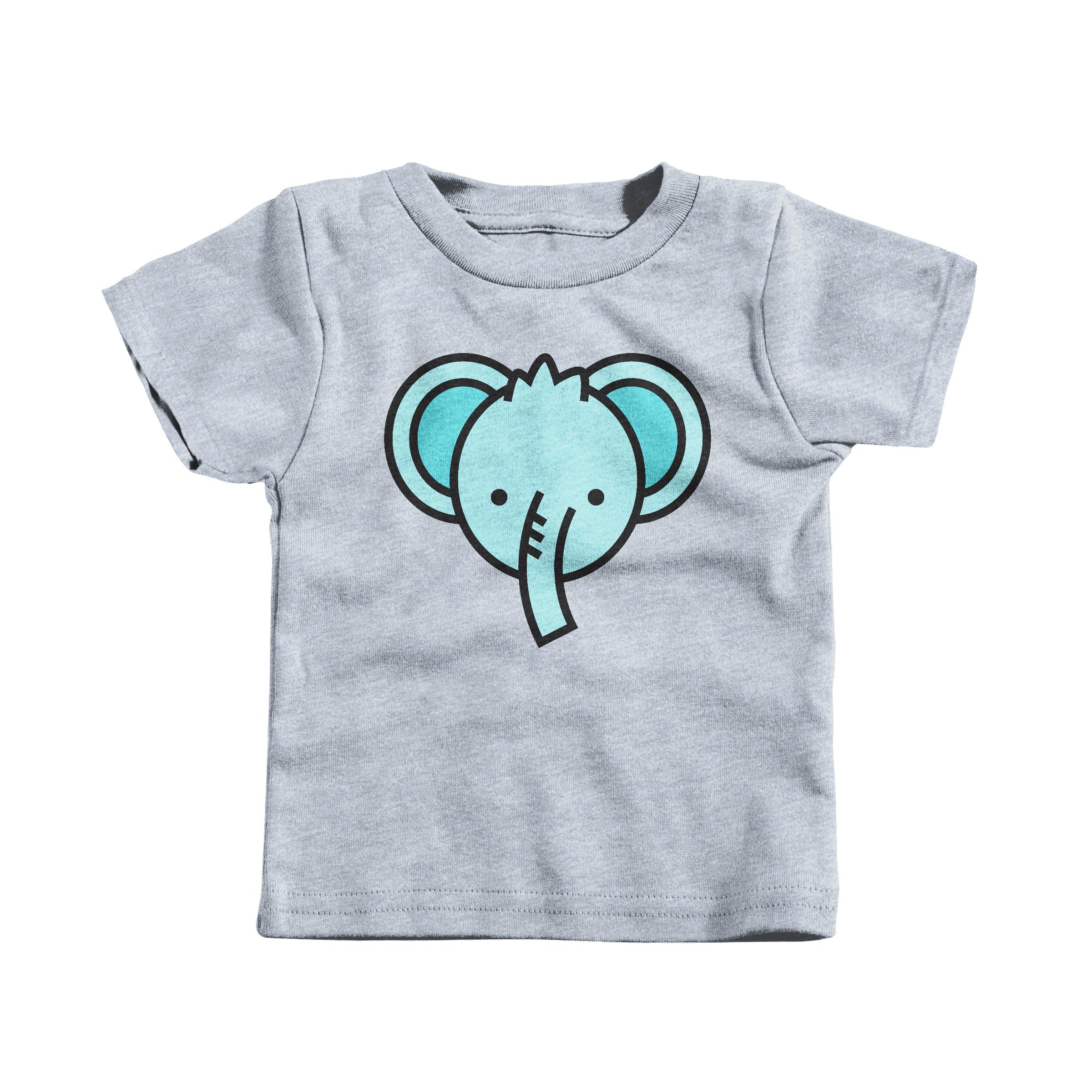 Blue Elephant Heather Grey (T-Shirt)