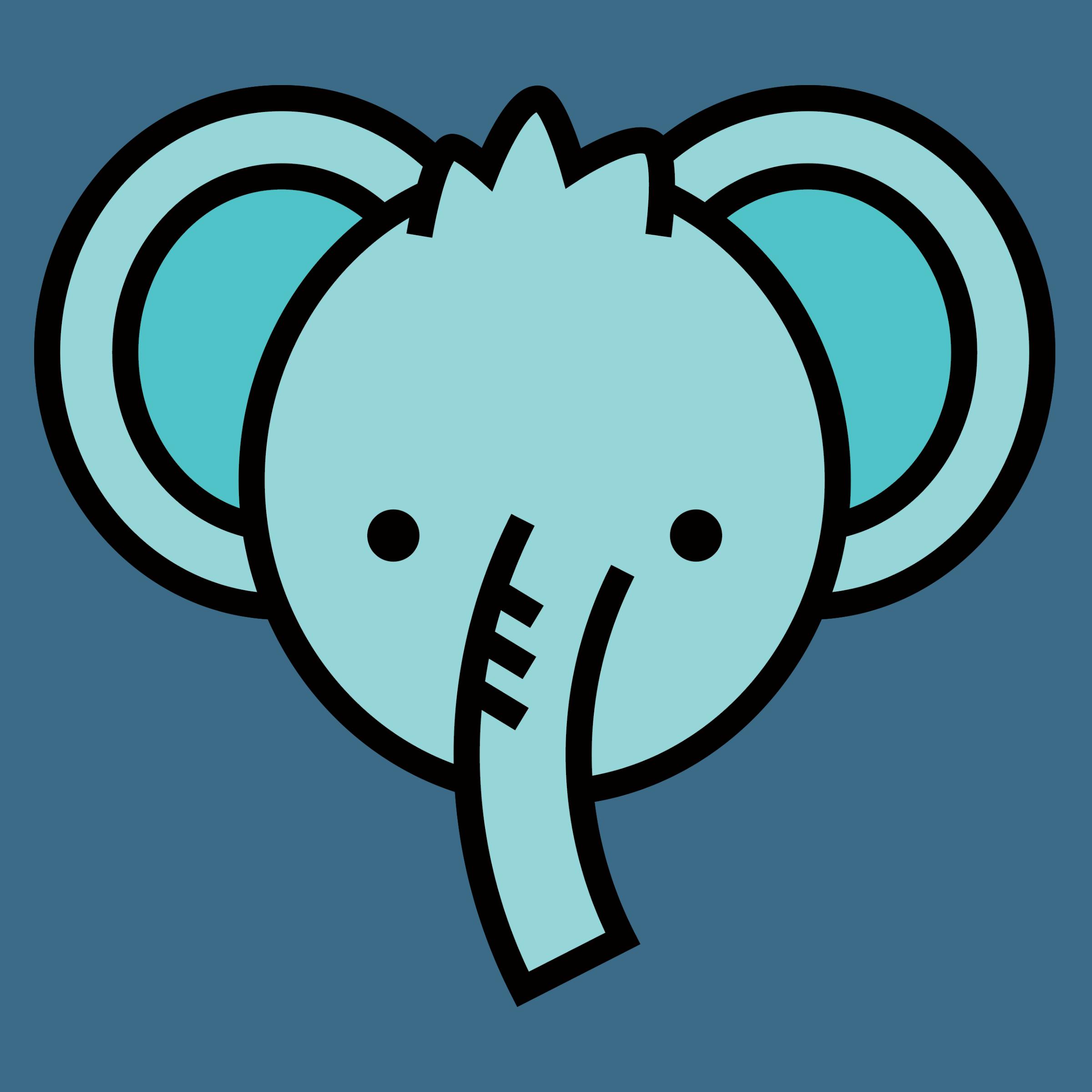 Blue Elephant Detail