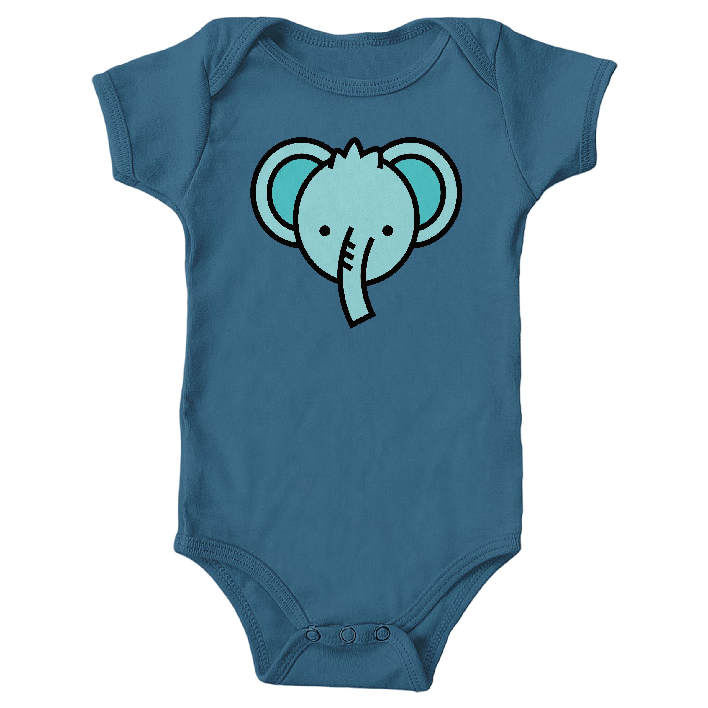 Blue Elephant Indigo (Onesie)