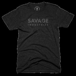 "5ff934e1635a Savage Industries"" graphic tee by Savage Merchandising.   Cotton Bureau"