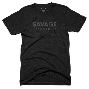 "d758b914 Savage Industries"" graphic tee by Savage Merchandising. | Cotton Bureau"