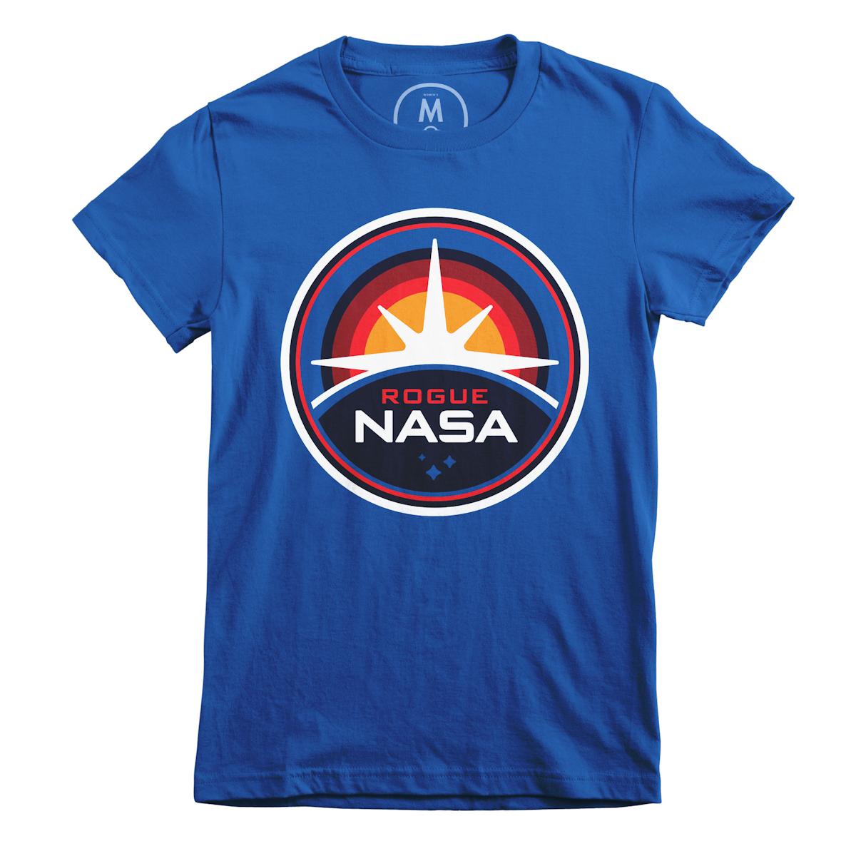 "e36a18f86 ""Rogue NASA Insignia"" graphic tee, tank, pullover crewneck, long sleeve tee,  and pullover hoodie by Rogue NASA. | Cotton Bureau"