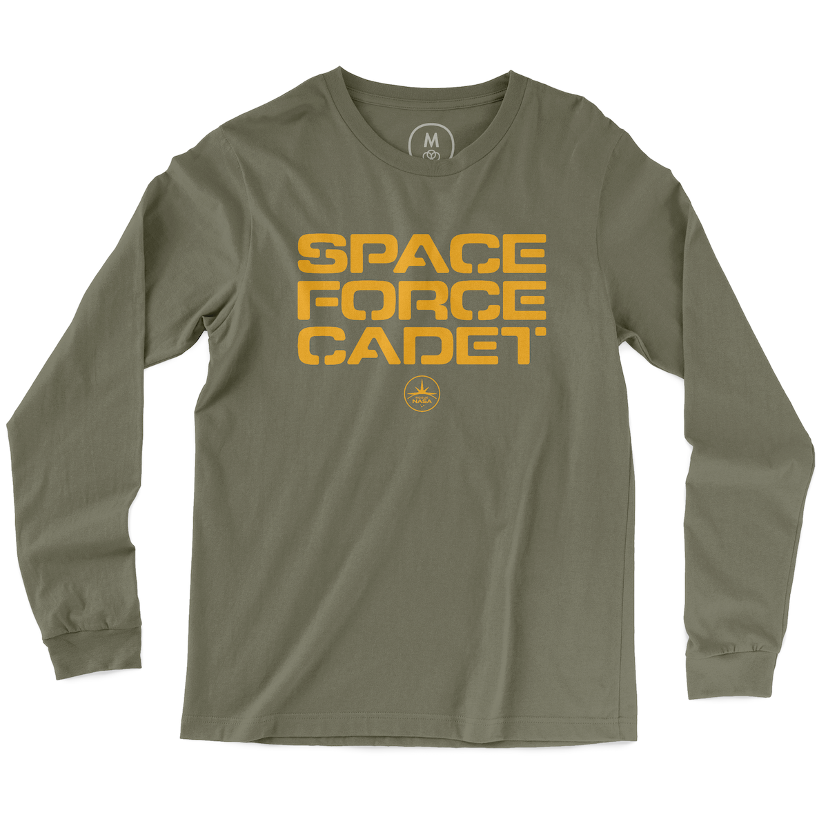"1dca3ab9 ""Space Force Cadet"" graphic tee, tank, long sleeve tee, and pullover hoodie  by Rogue NASA. 