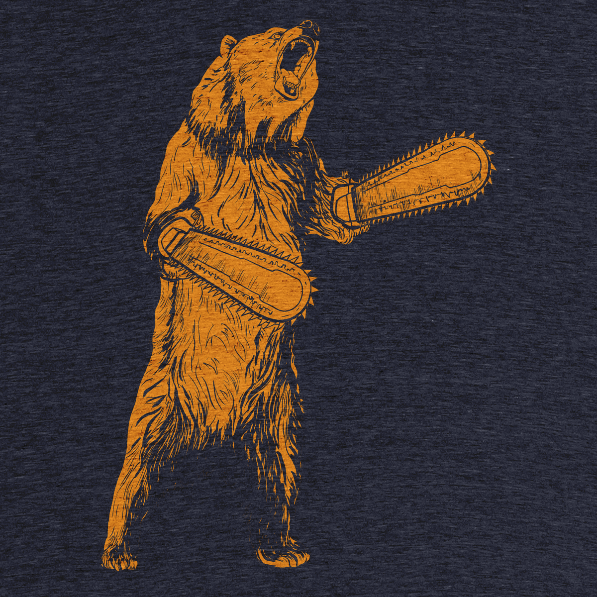 """361988c60d """"The Right To Bear Chainsaw Arms"""" graphic tee by Ryan Redbeard. 