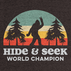 "ff2641563 Bigfoot Hide & Seek World Champion"" graphic tee and pullover ..."