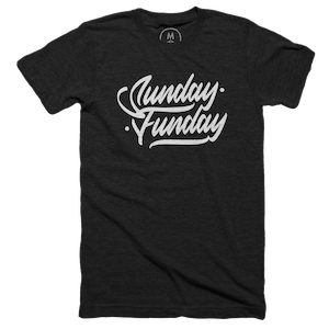 """8750b3dcf Sunday Funday"""" graphic tee, tank, and pullover hoodie by Sean Miller ..."""