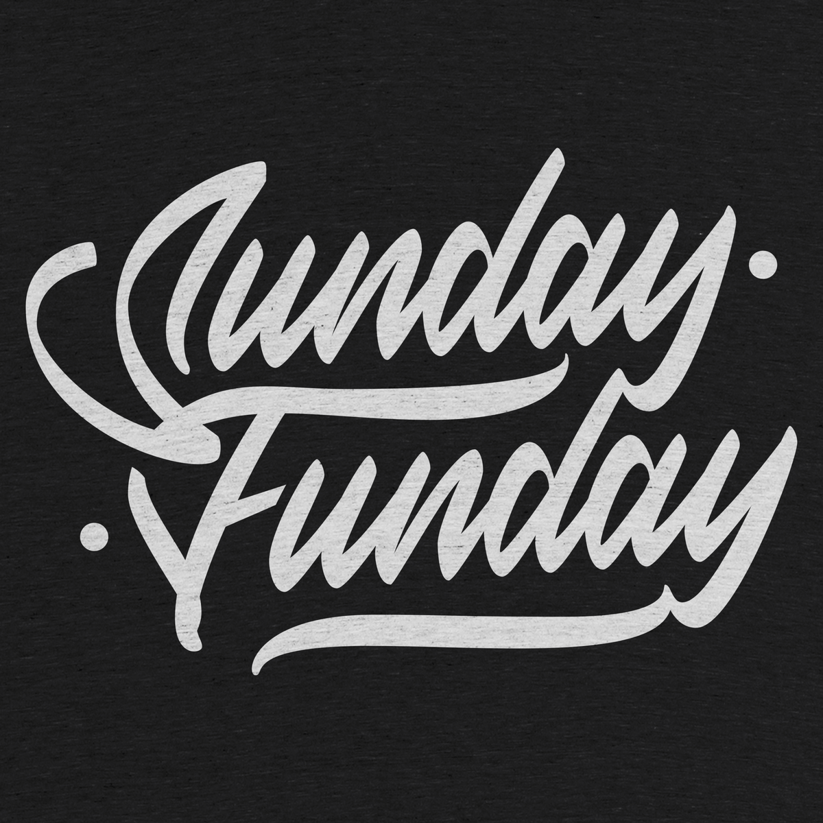 """2b163358b """"Sunday Funday"""" graphic tee, tank, and pullover hoodie by Sean Miller.    Cotton Bureau"""