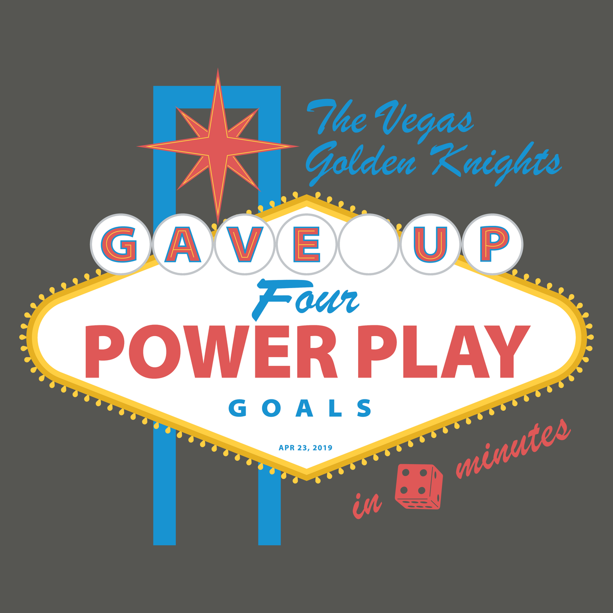 """Four Power Play Goals in Four Minutes  Oh my """" graphic tee"""