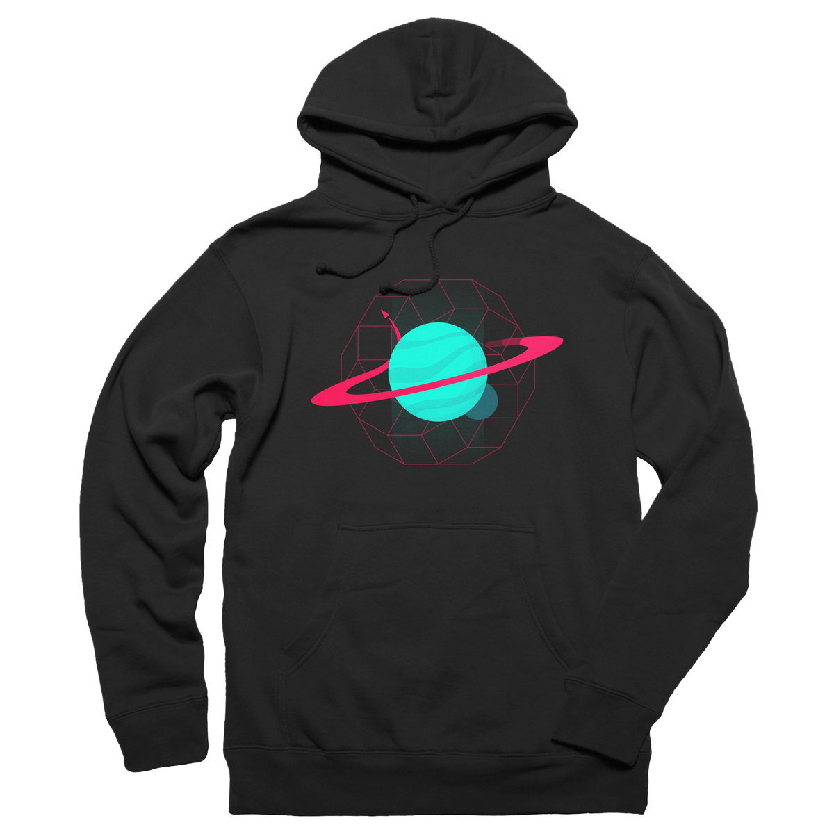 "Orbit"" graphic tee, pullover hoodie, and tank by Harry Stay"