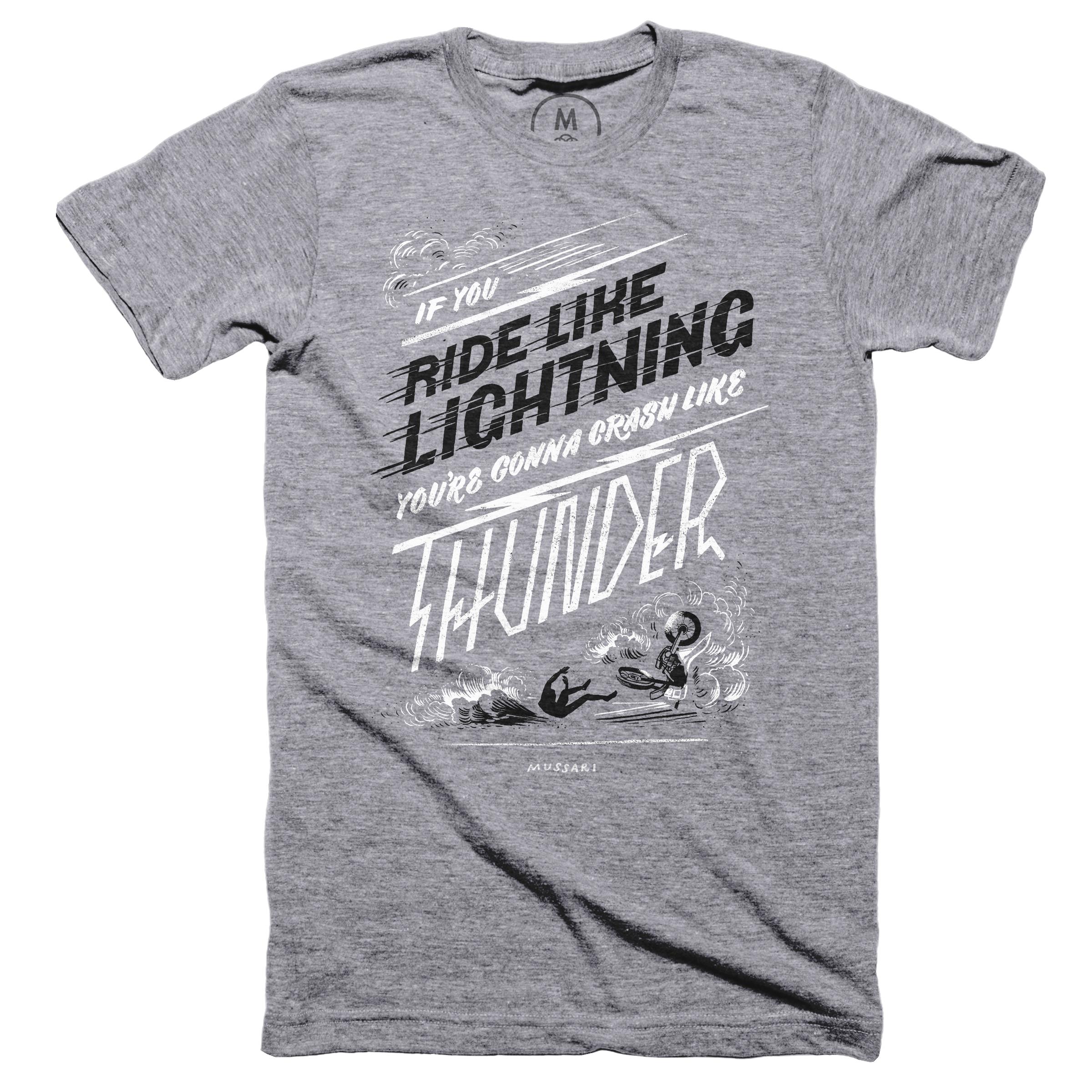 Ride Like Lightning, Crash Like Thunder Premium Heather (Men's)