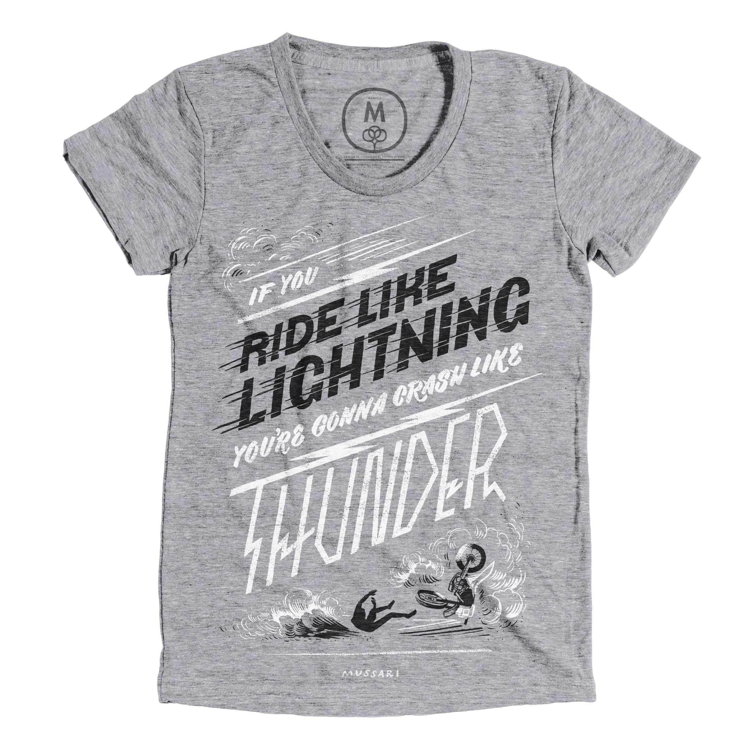 Ride Like Lightning, Crash Like Thunder Premium Heather (Women's)
