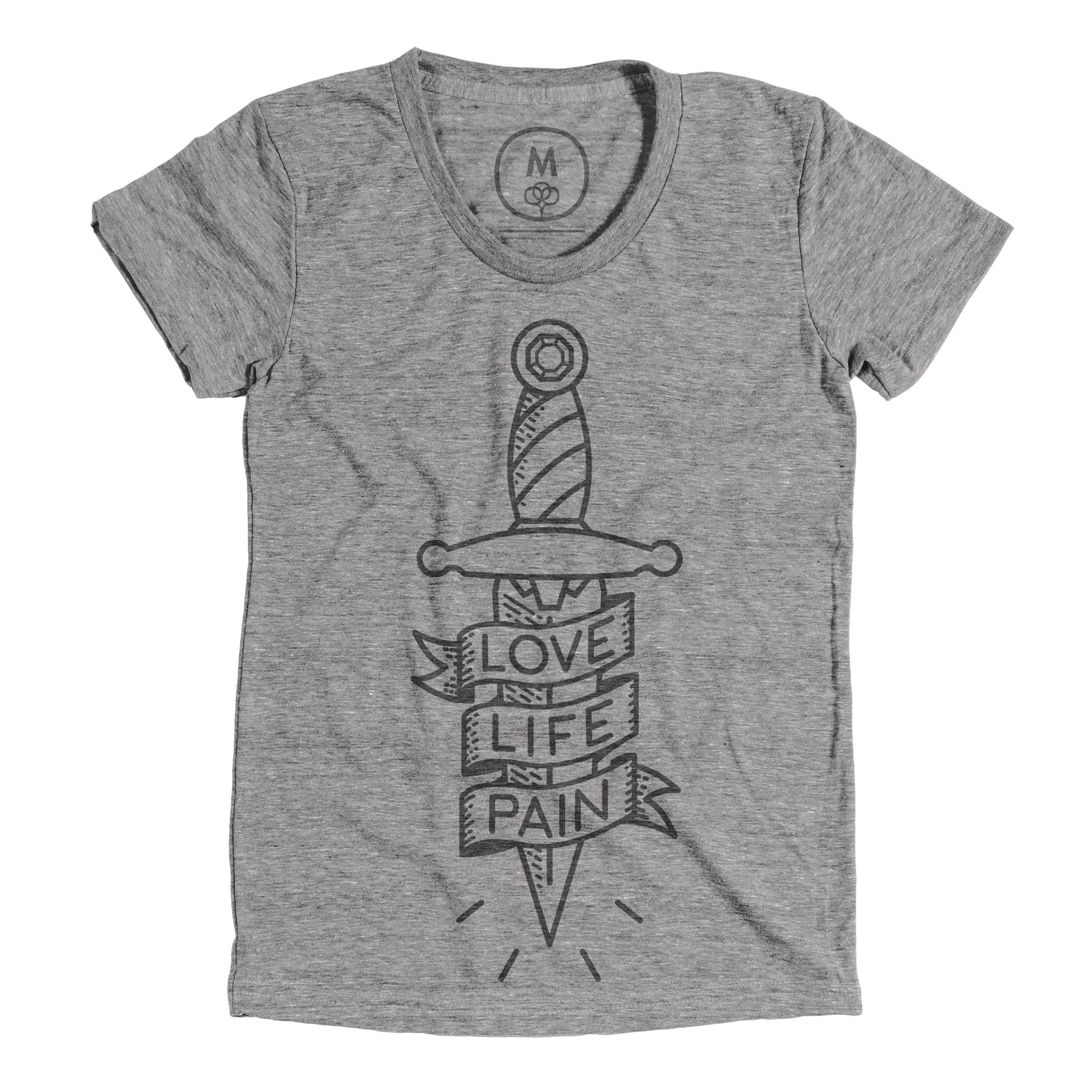 Love, Life, Pain Athletic Grey (Women's)