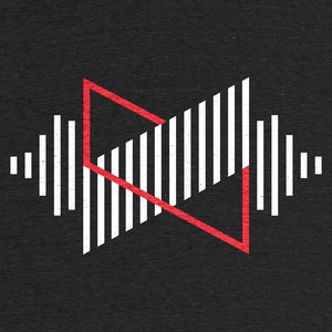 """MKBHD Waveform"""" graphic tee, pullover crewneck, pullover hoodie, tank, and  onesie by MKBHD. 