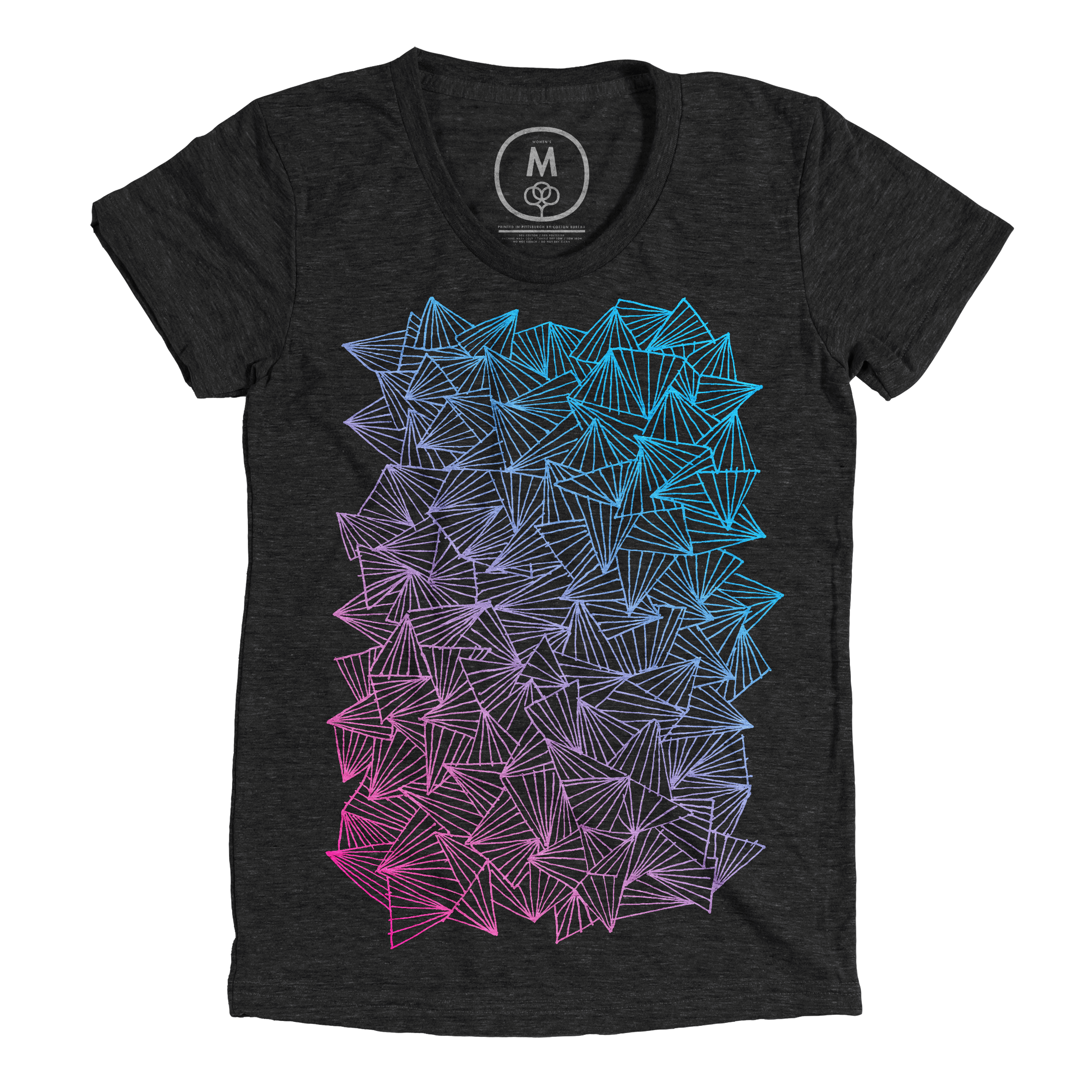 A Gaggle of Triangles Vintage Black (Women's)