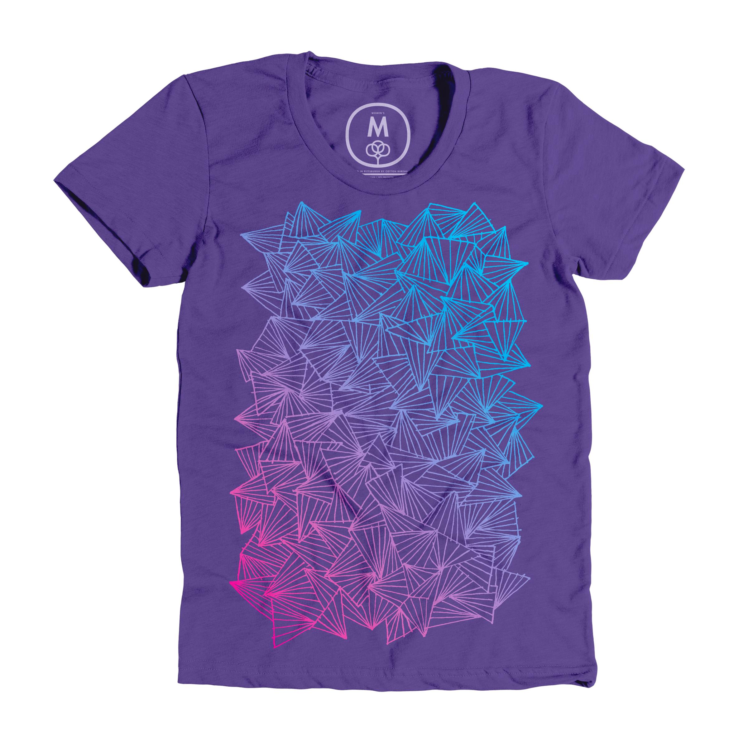 A Gaggle of Triangles Purple Rush (Women's)