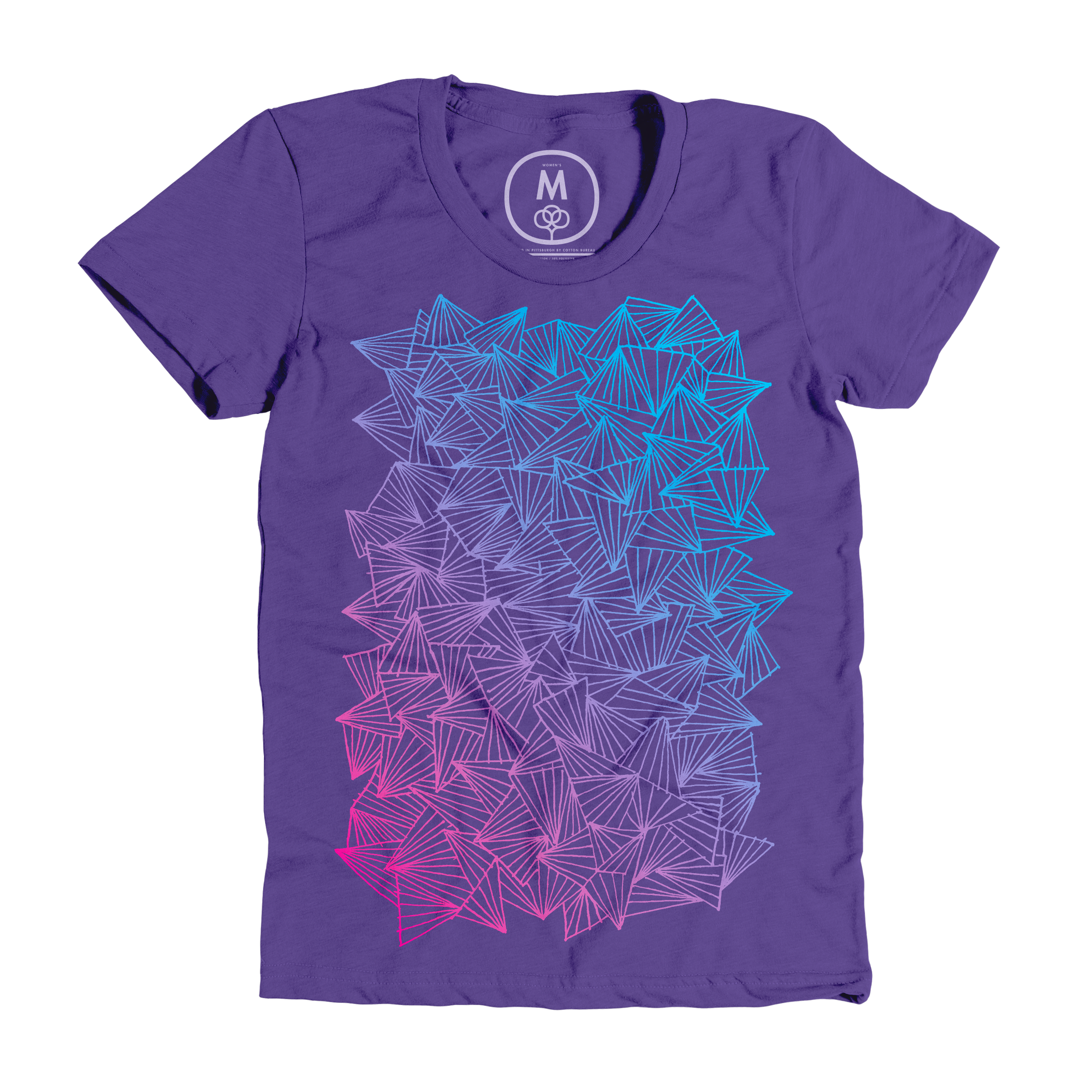 A Gaggle of Triangles Purple Rush (Women's)