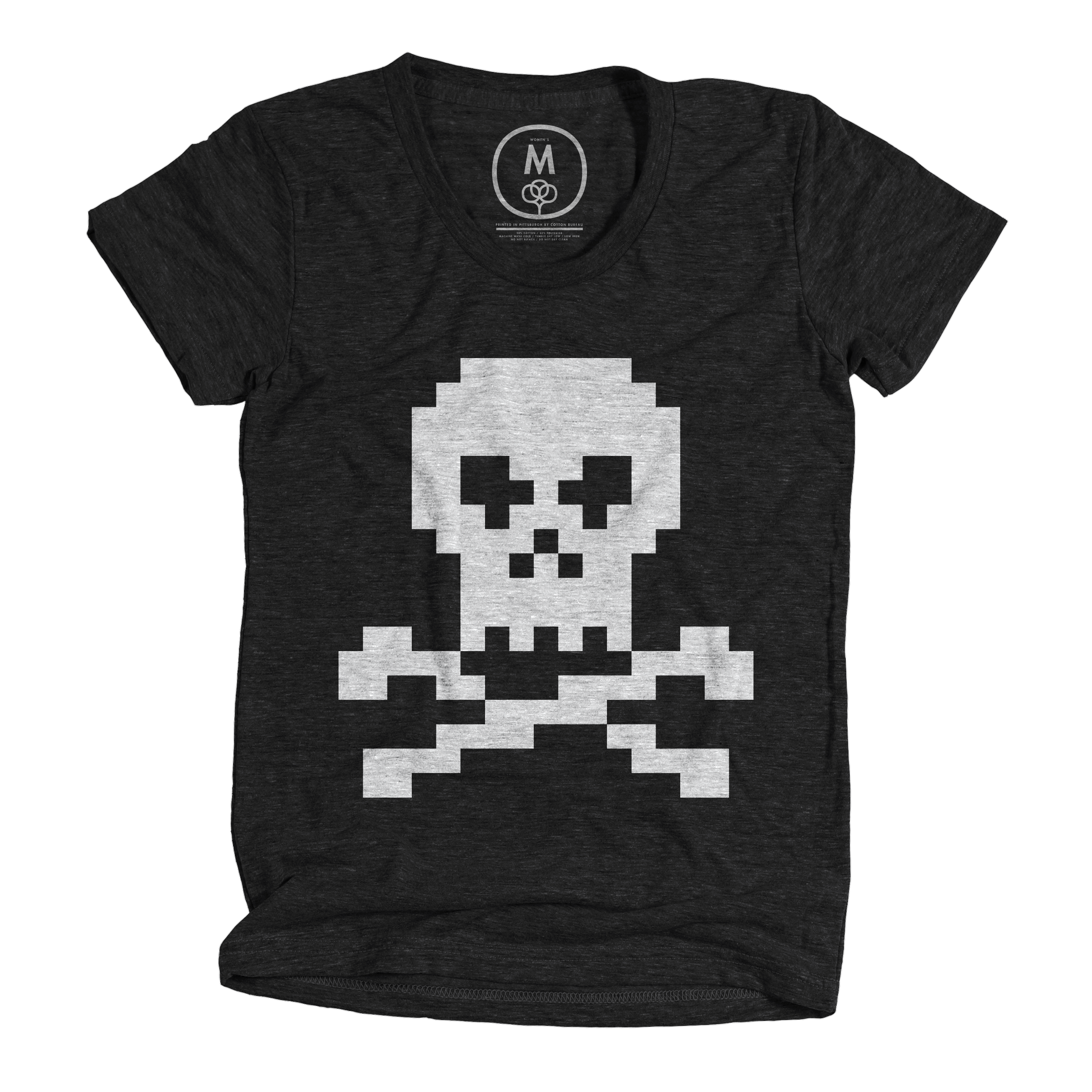 Pixel Jolly Roger Vintage Black (Women's)