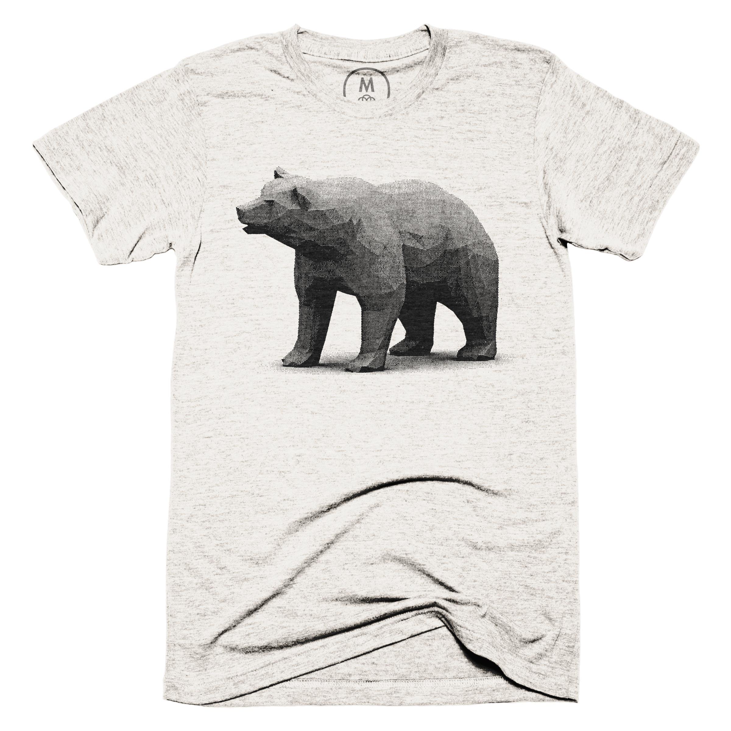 Poly Halftone Bear