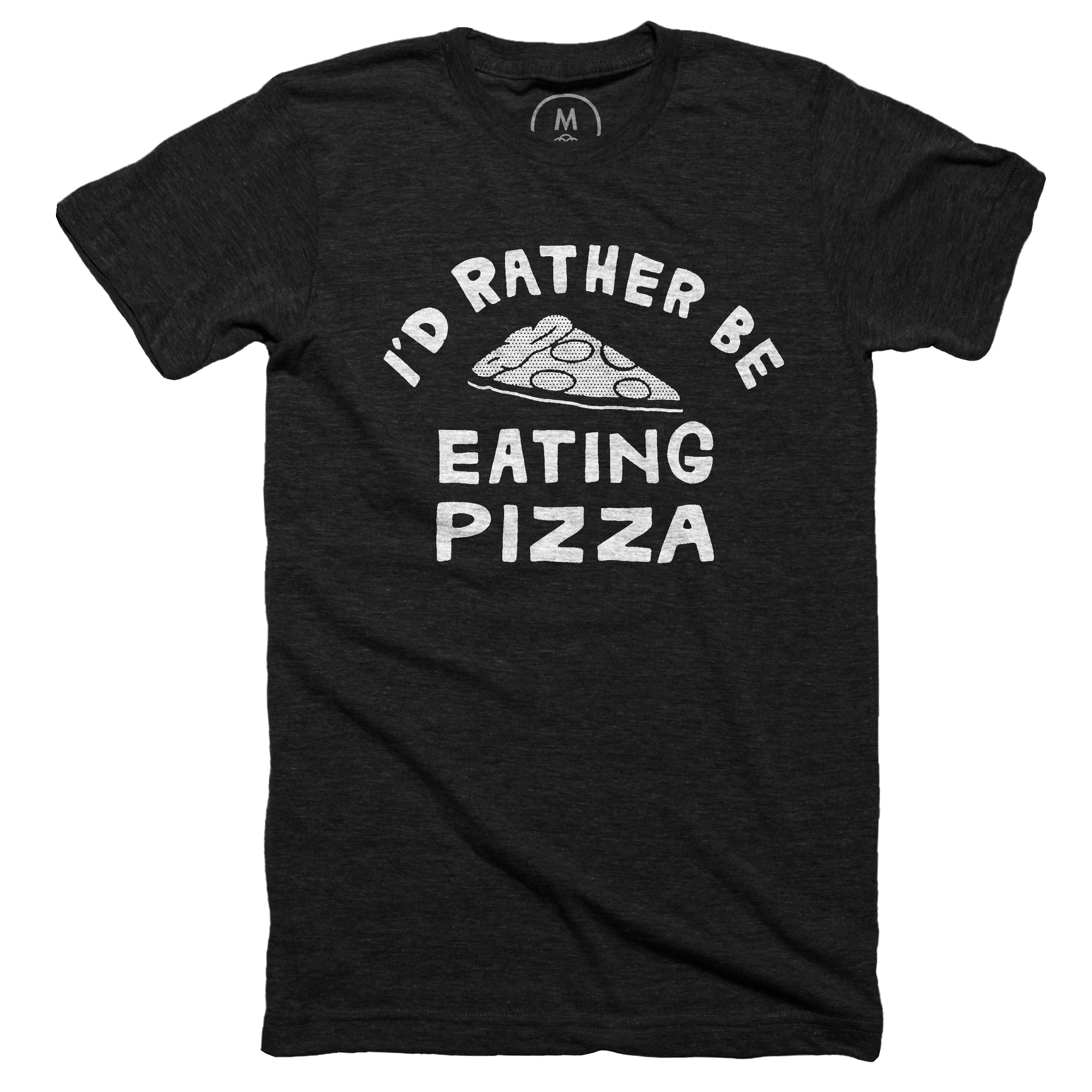 I'd Rather Be Eating Pizza Vintage Black (Men's)