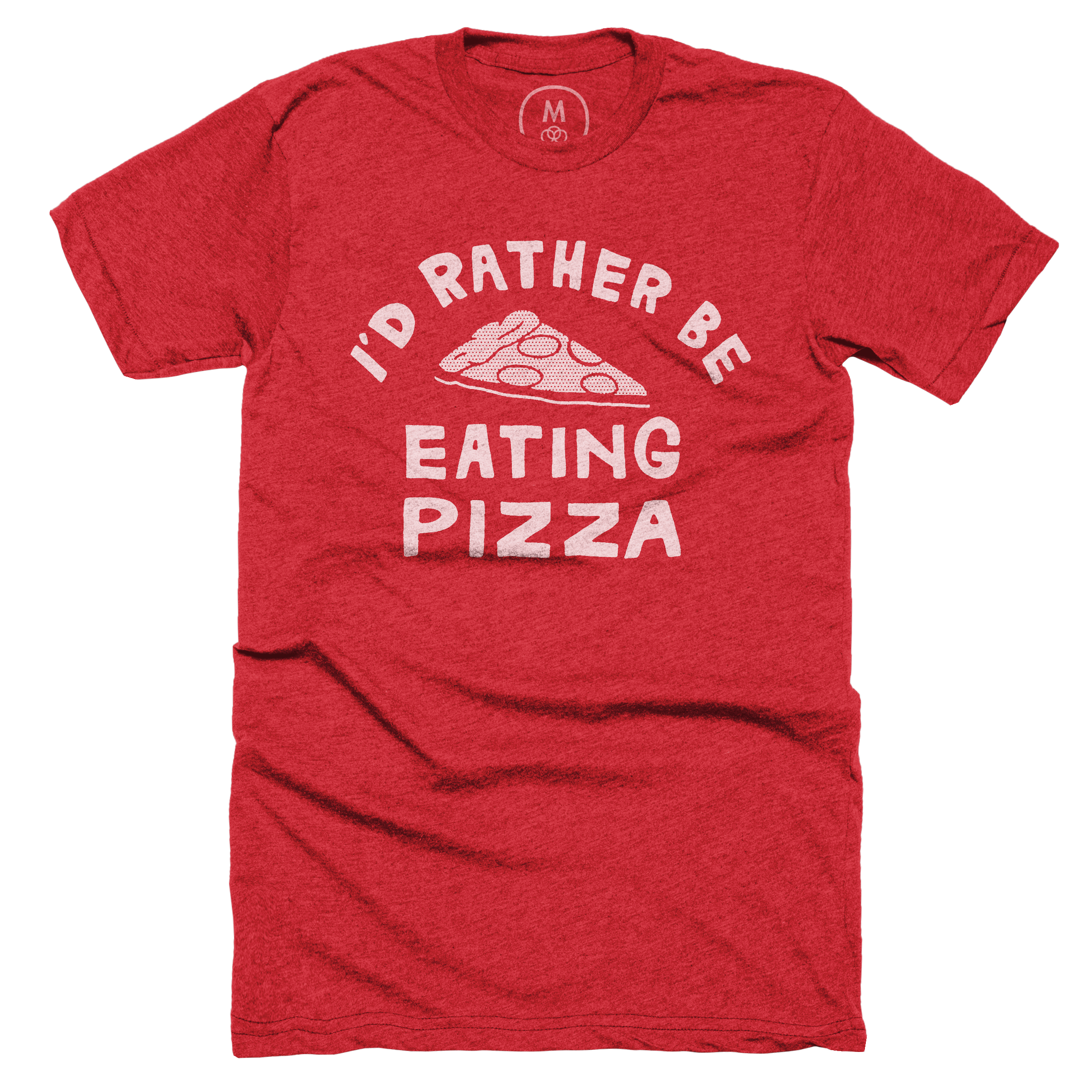 I'd Rather Be Eating Pizza Red (Men's)