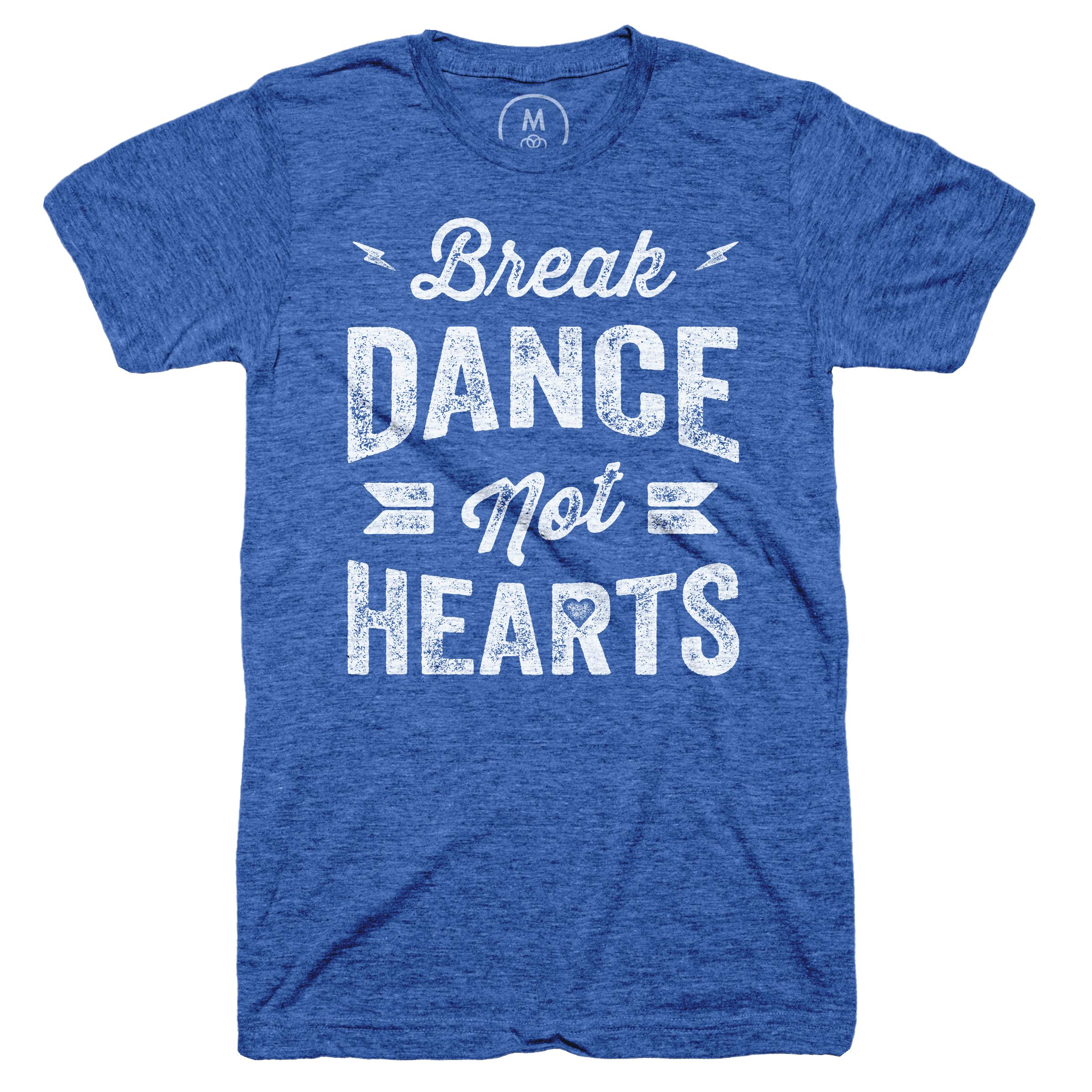 Break Dance, Not Hearts Vintage Royal (Men's)