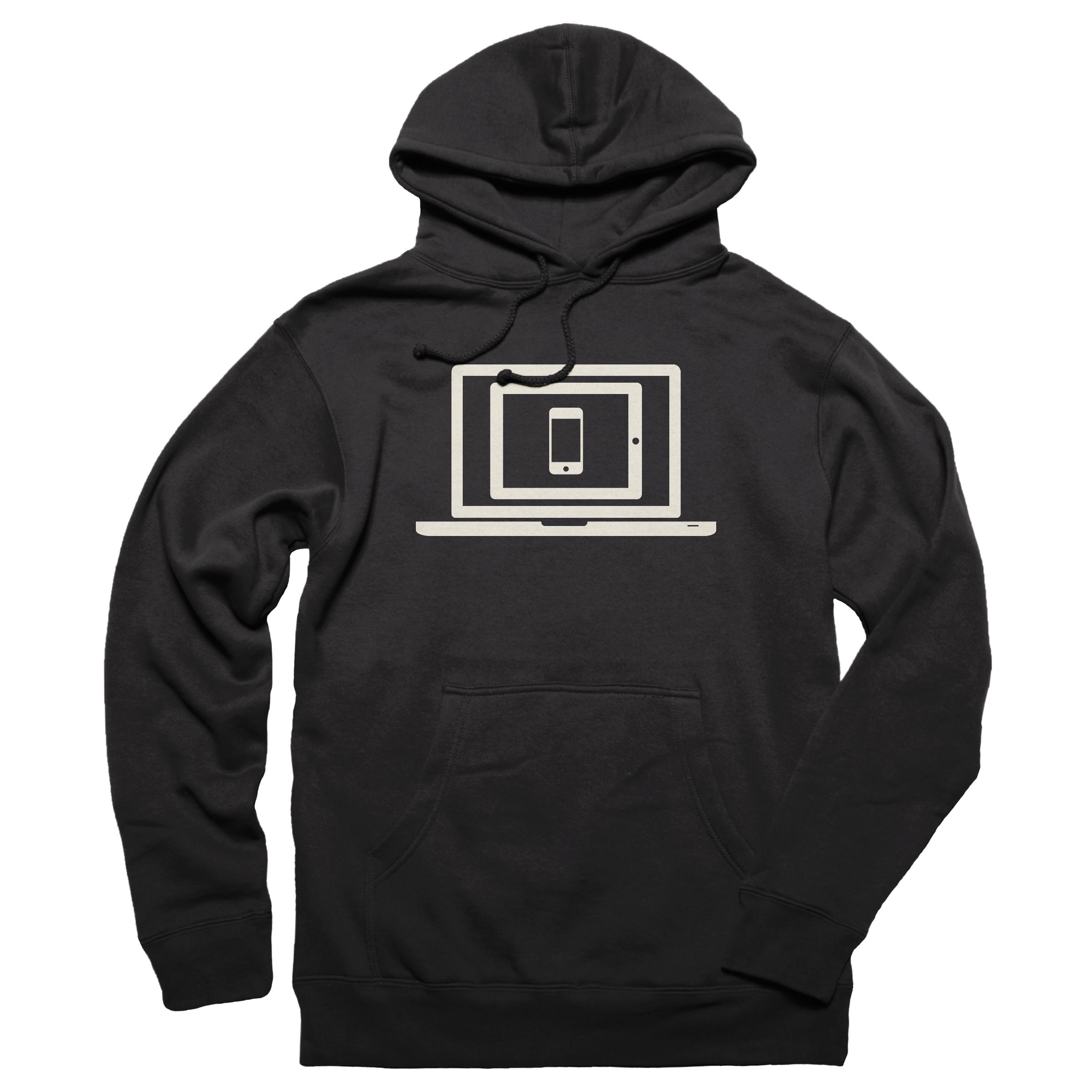 Responsive Design Pullover Hoodie