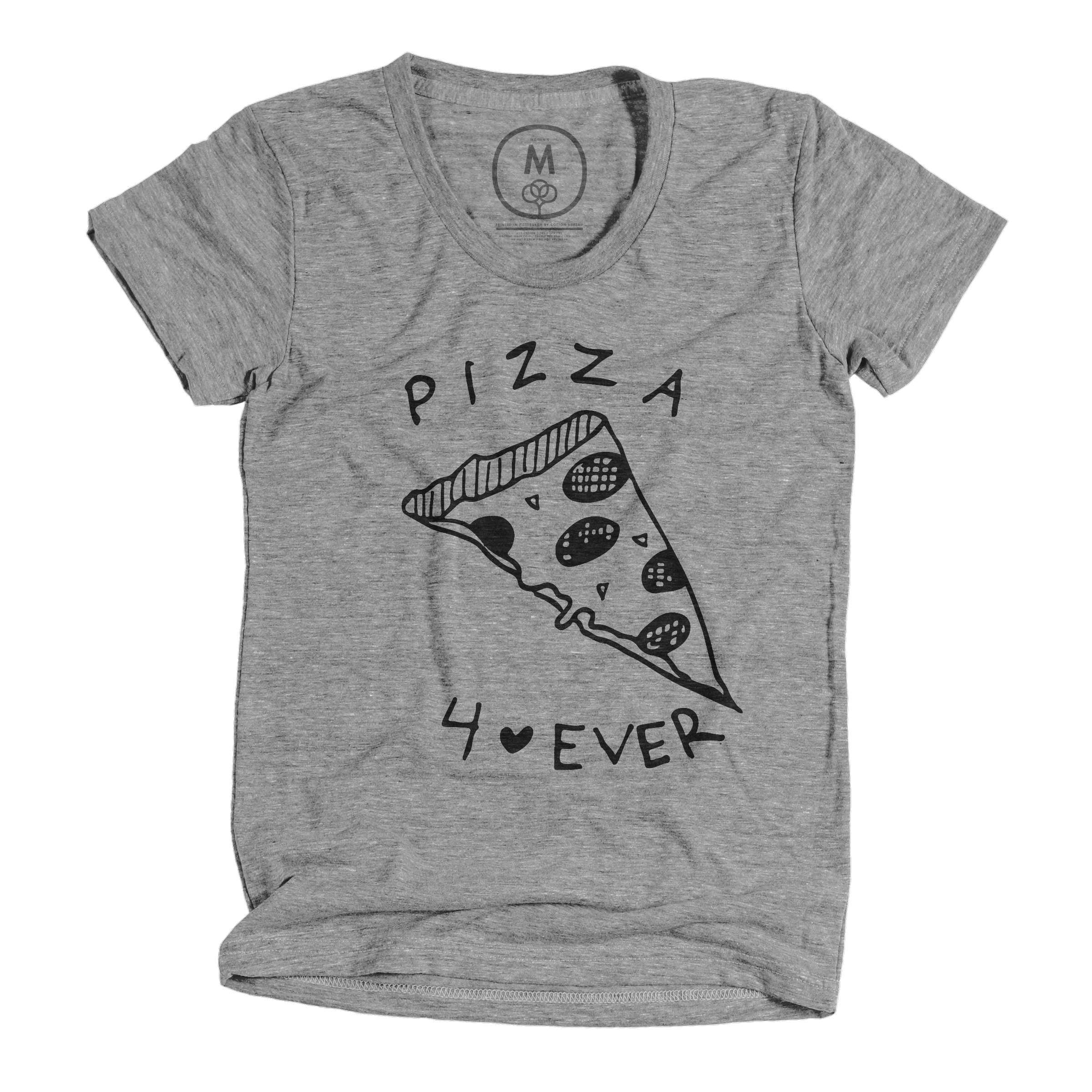 Pizza 4•Ever Athletic Grey (Women's)