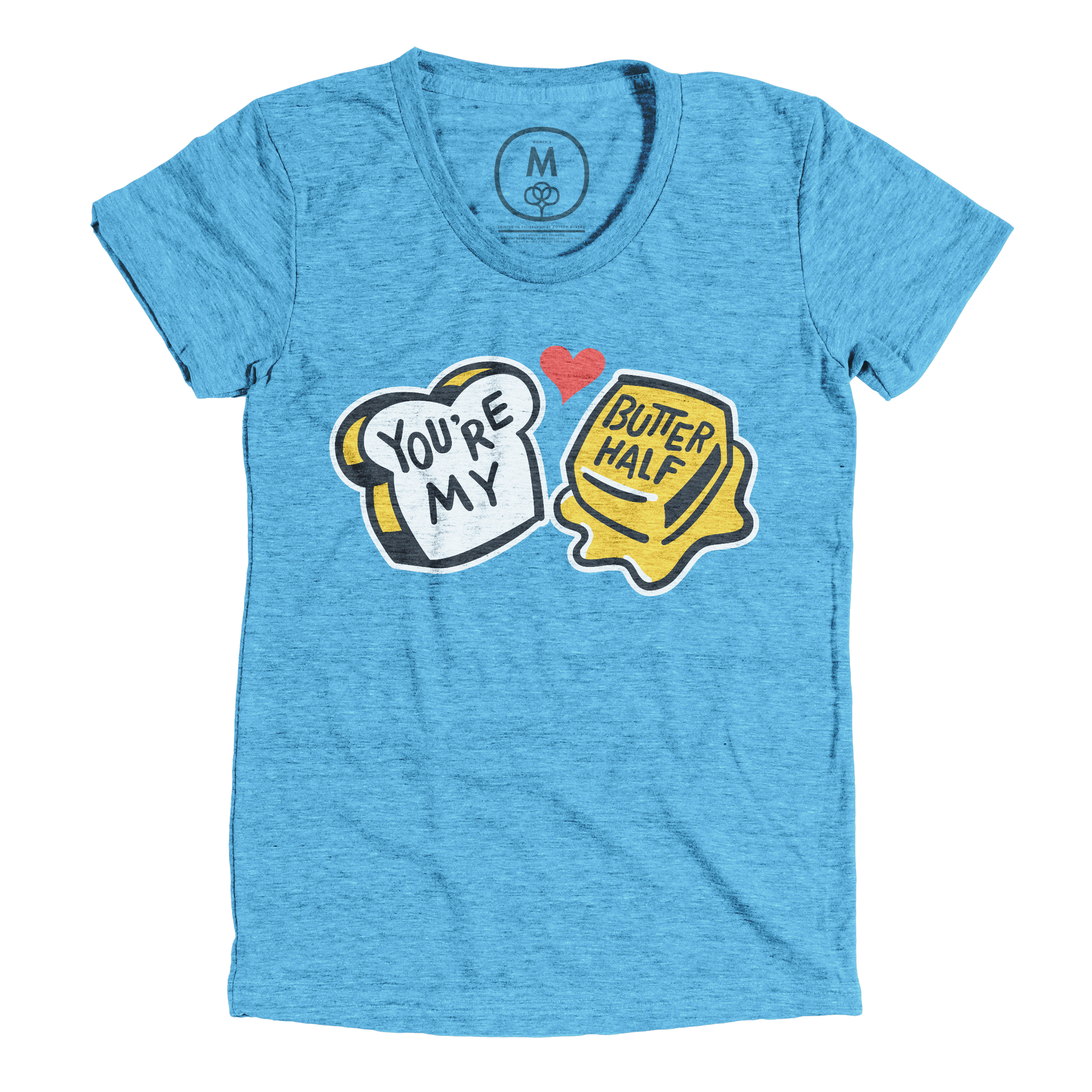 You're My Butter Half Vintage Turquoise (Women's)