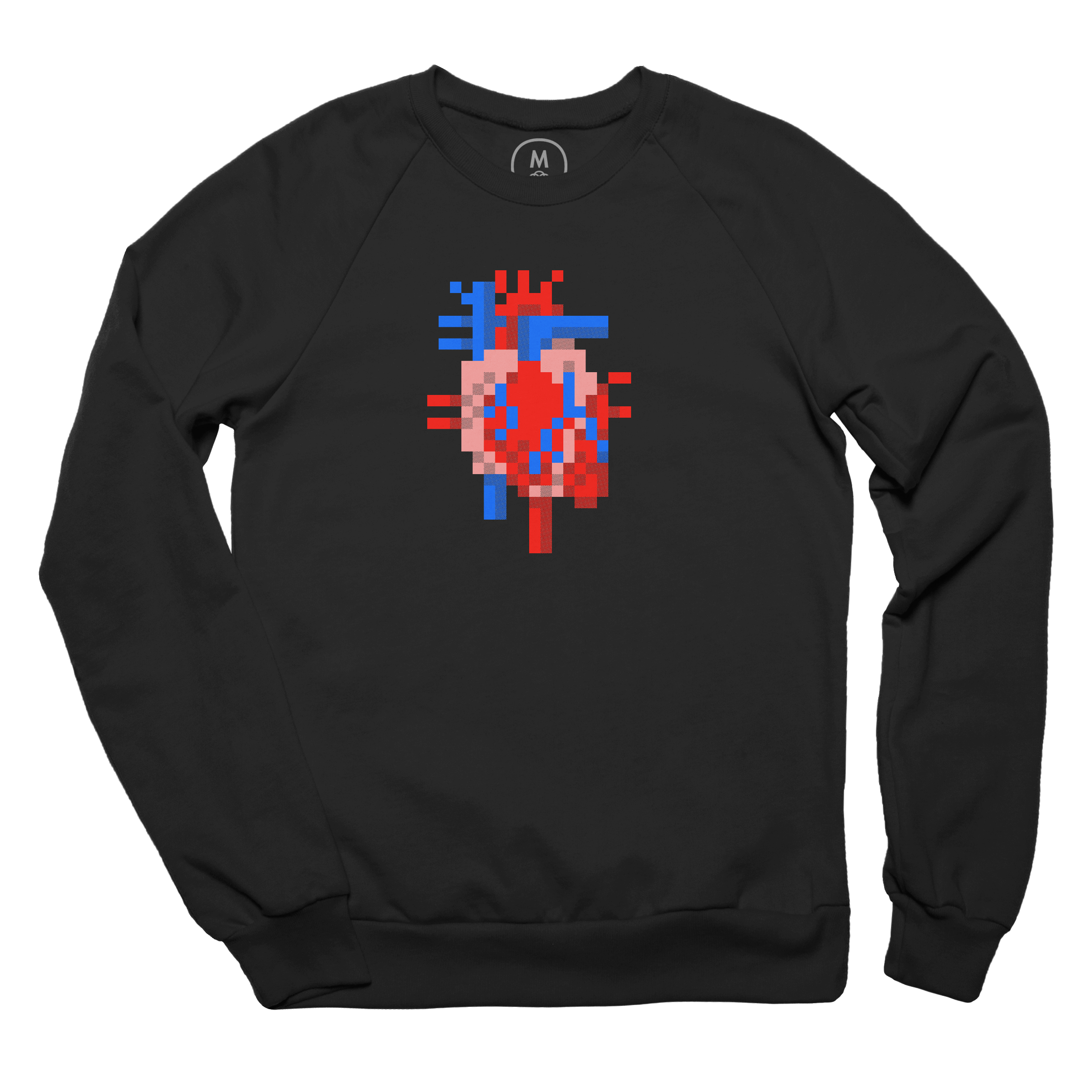 Heart of Pixels Pullover Crewneck