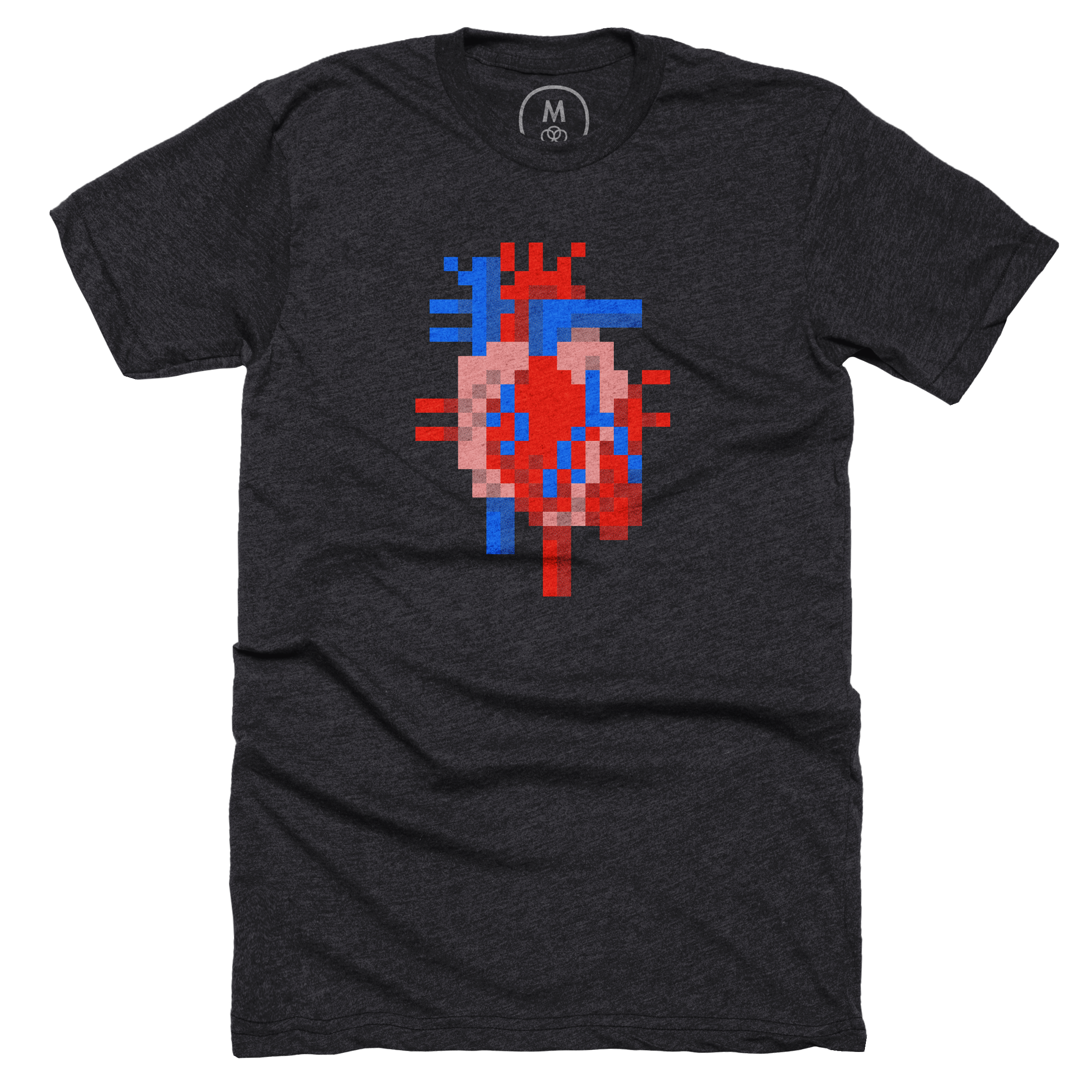Heart of Pixels Charcoal (Men's)