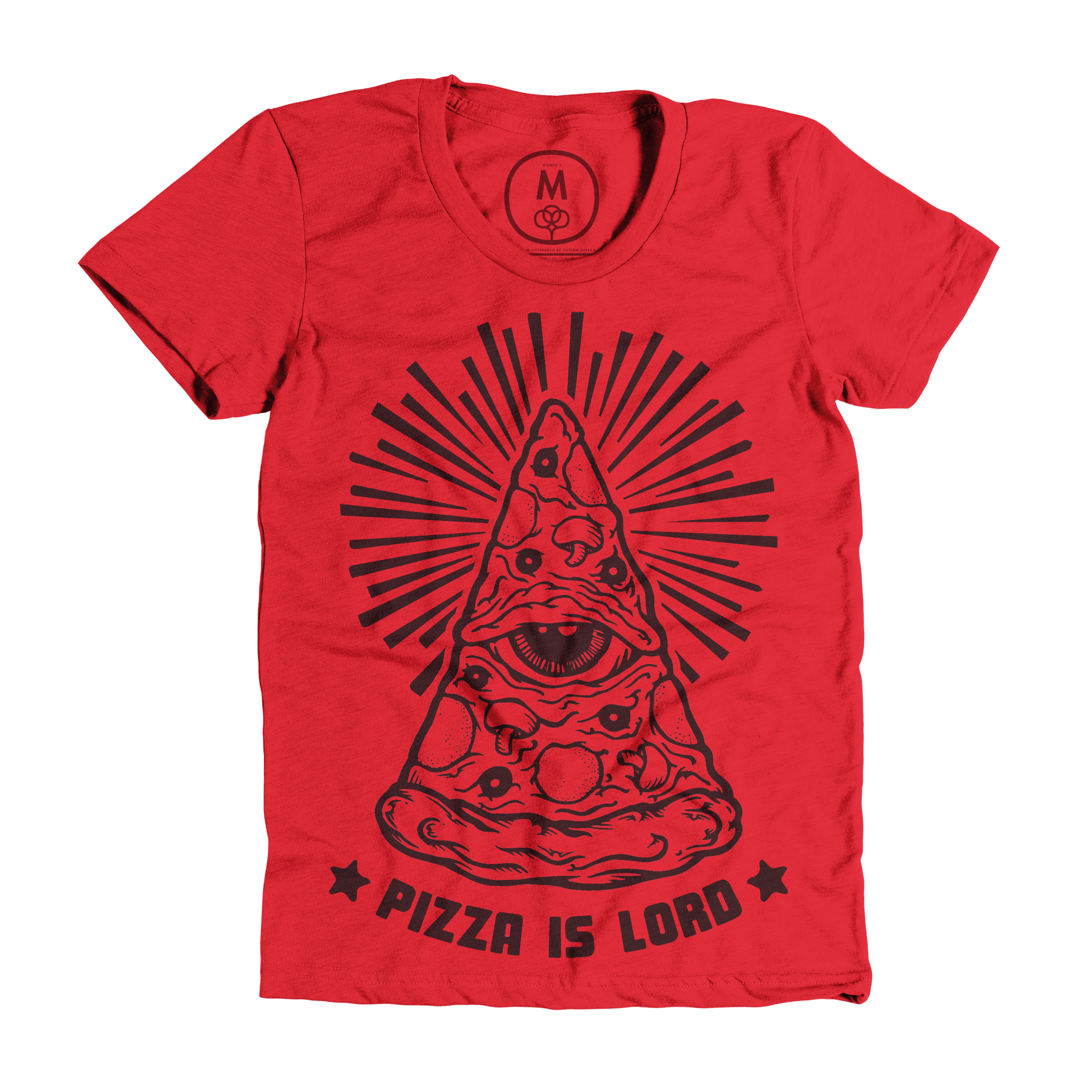 Pizza Is Lord Red (Women's)
