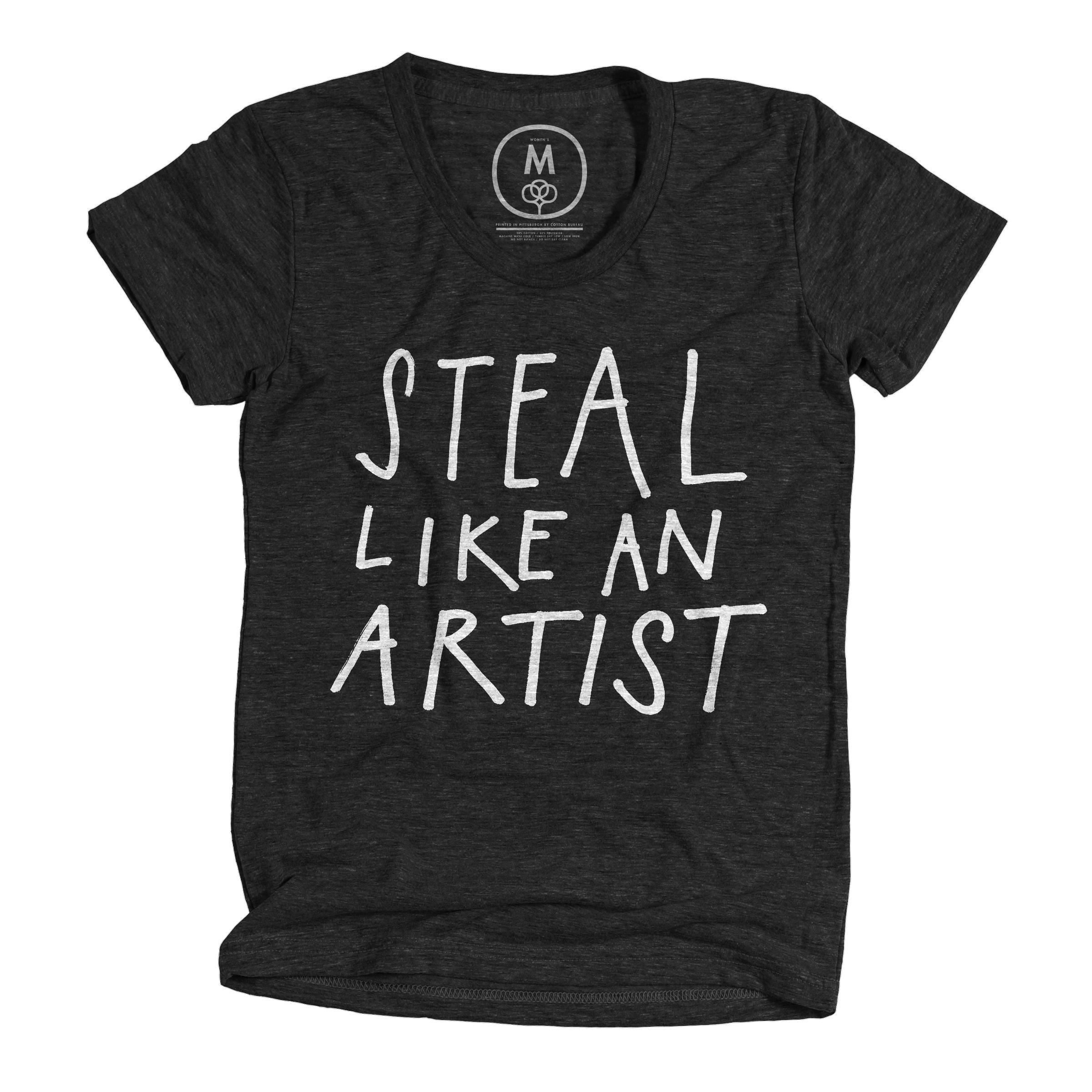 Steal Like An Artist Vintage Black (Women's)