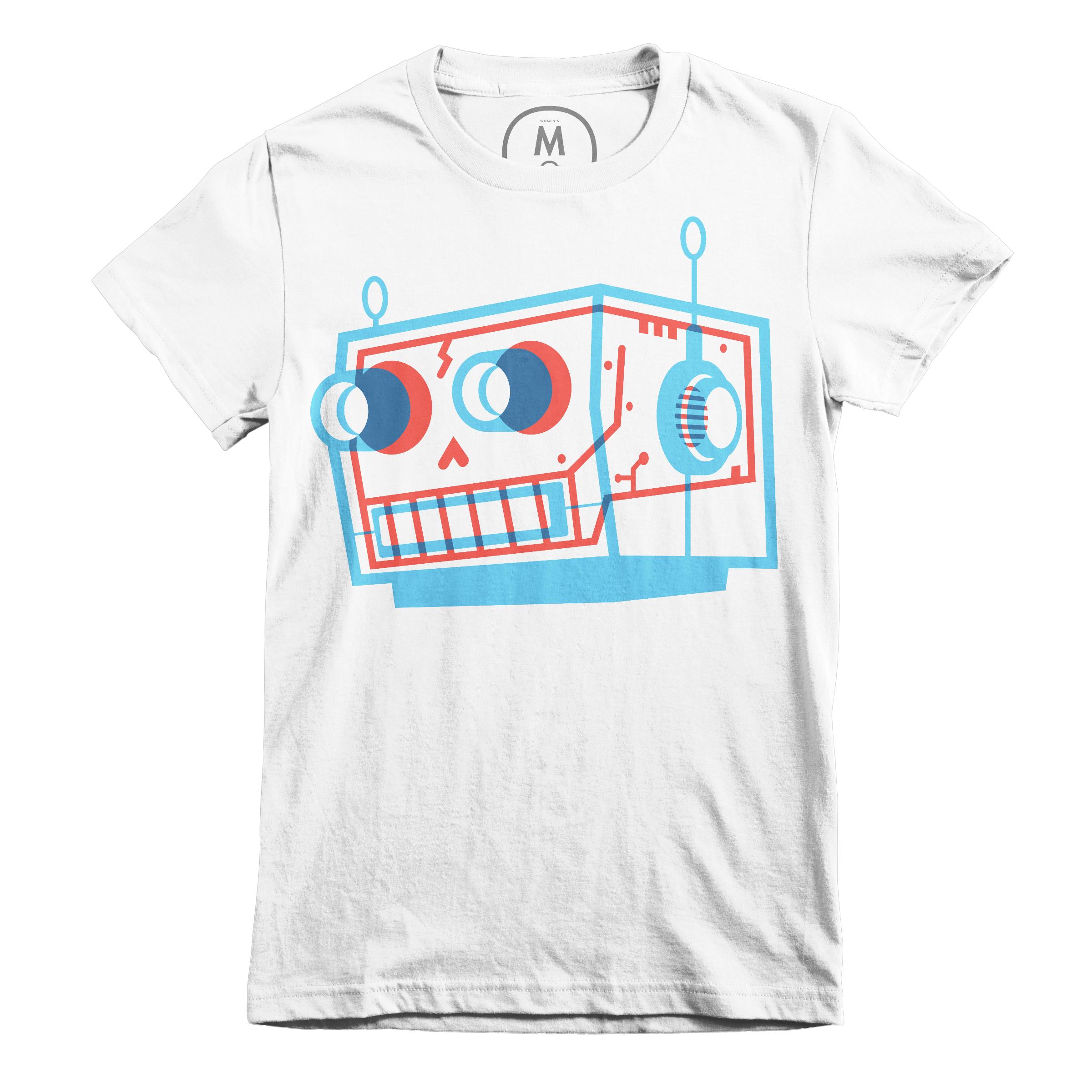 Robot Skull White (Women's)