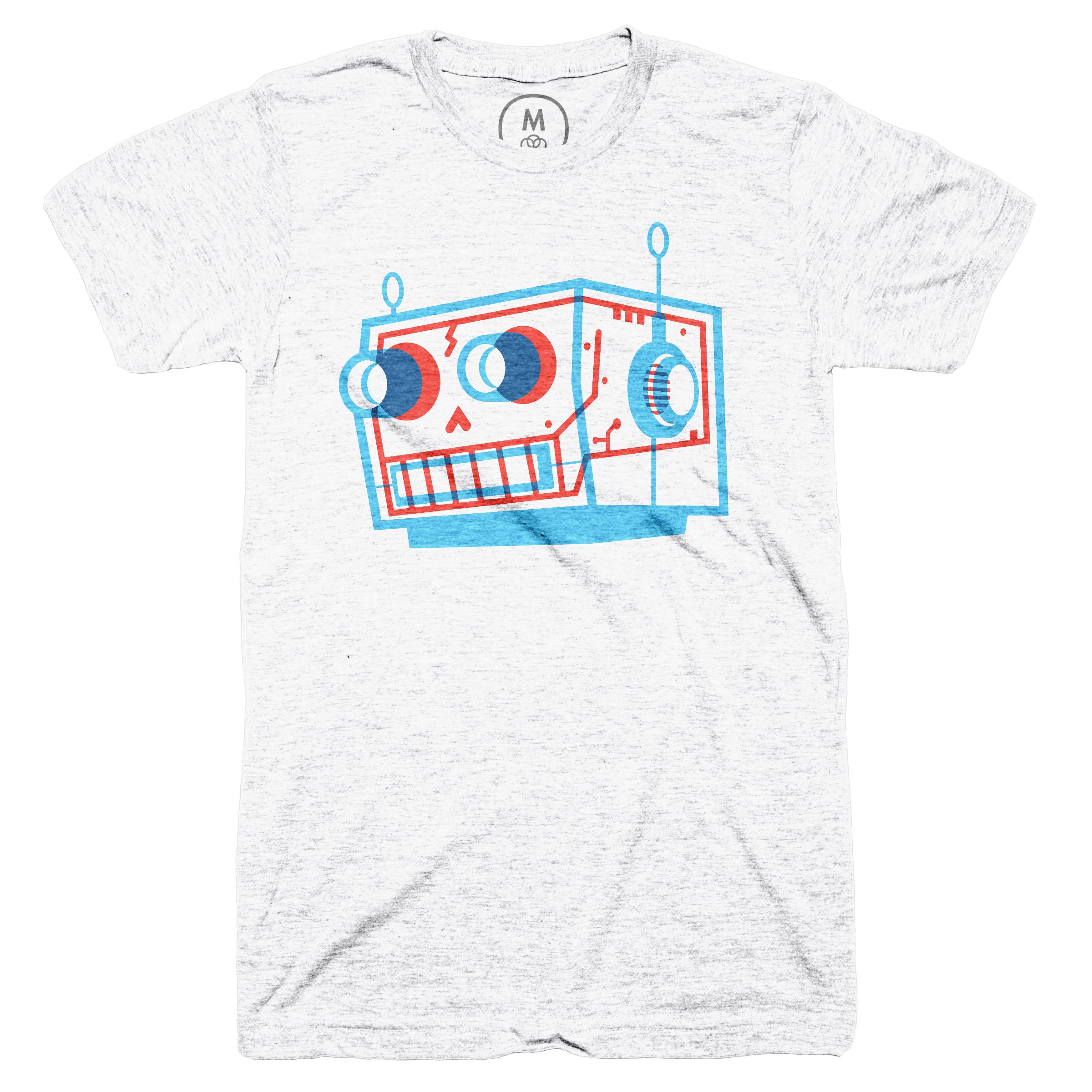 Robot Skull Heather White (Men's)