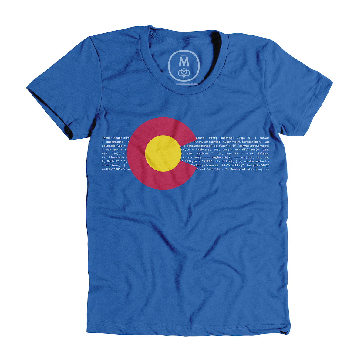 "0191a047dea05 ""HTML5 Colorado — A Tribute to Alex King"" graphic tee by Andrew Austin."