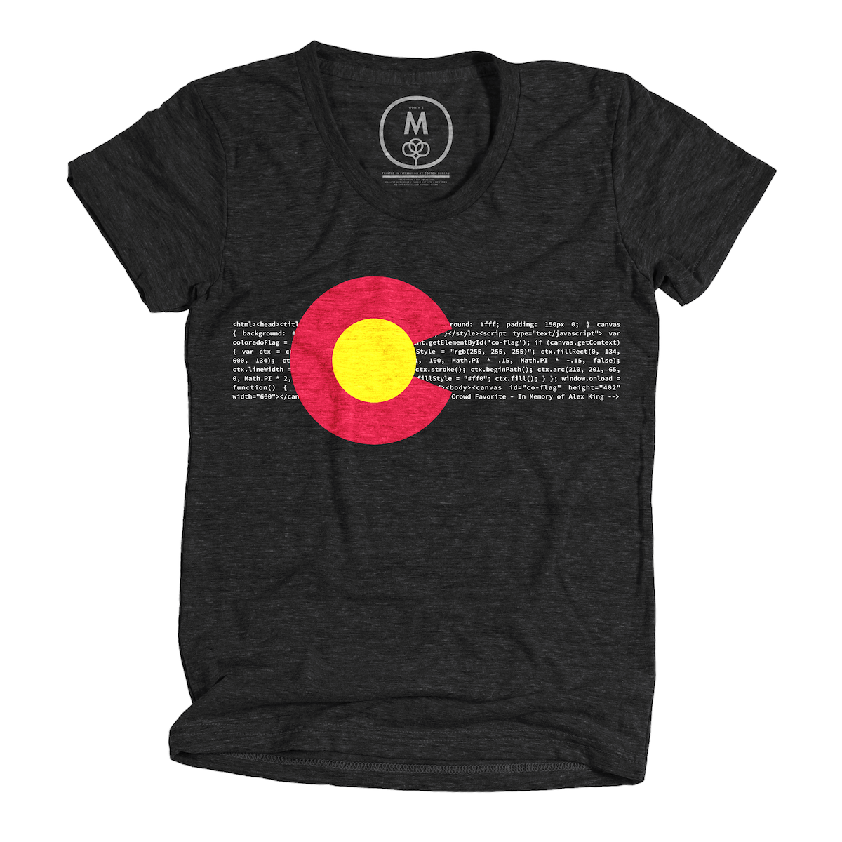 """e6198cad758 """"HTML5 Colorado — A Tribute to Alex King"""" graphic tee by Andrew Austin."""