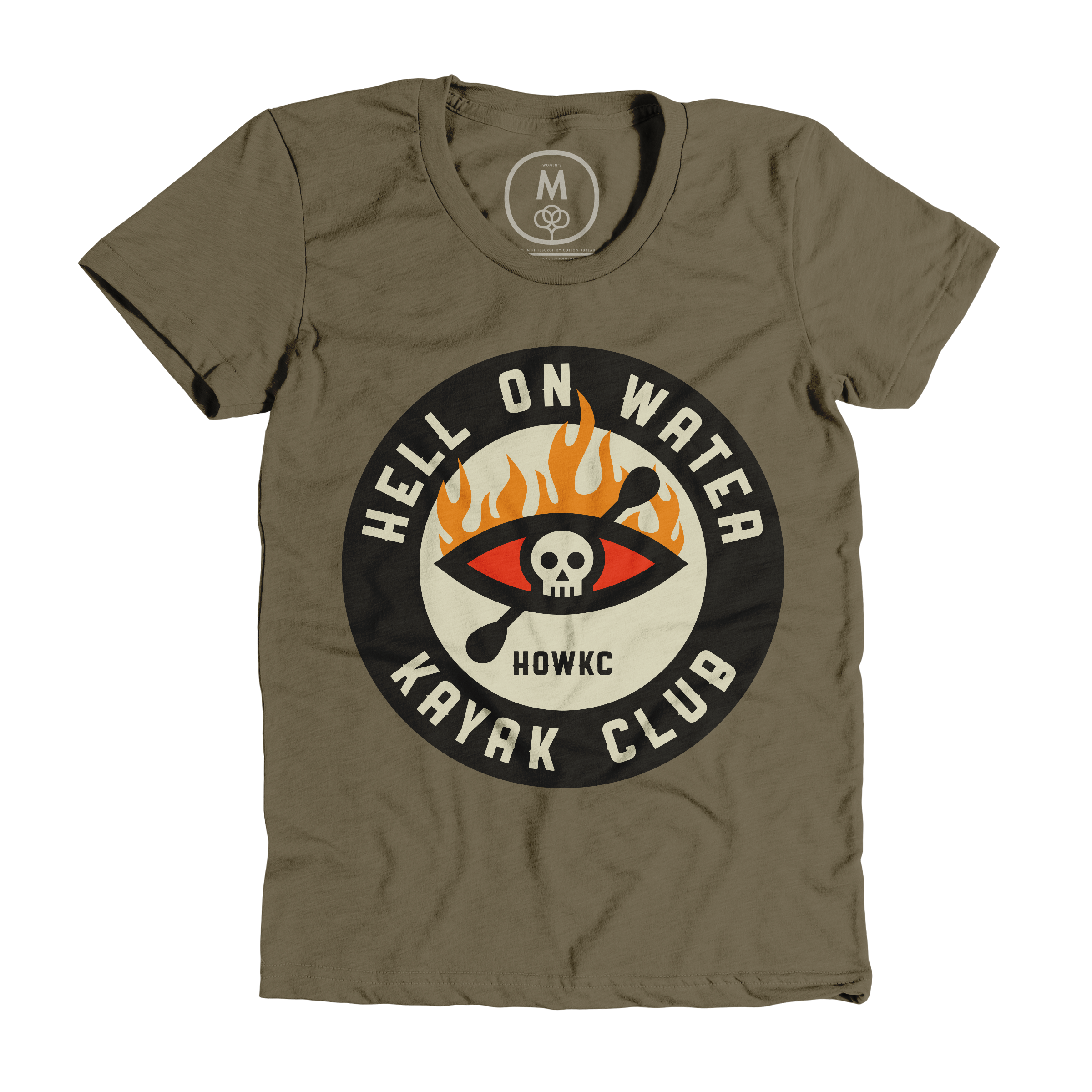 Hell On Water Kayak Club Military Green (Women's)