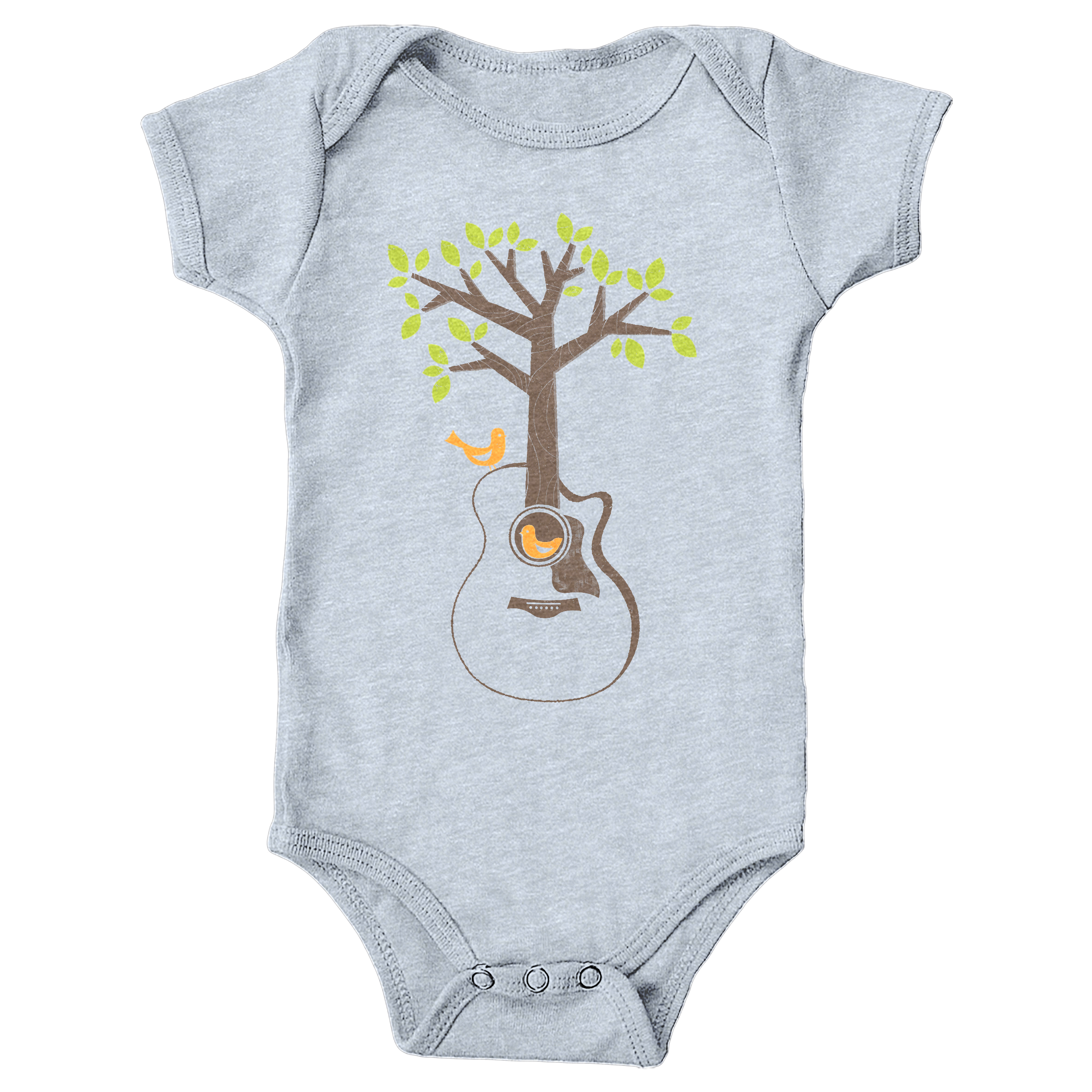 Acoustic Tree Heather Grey (Onesie)