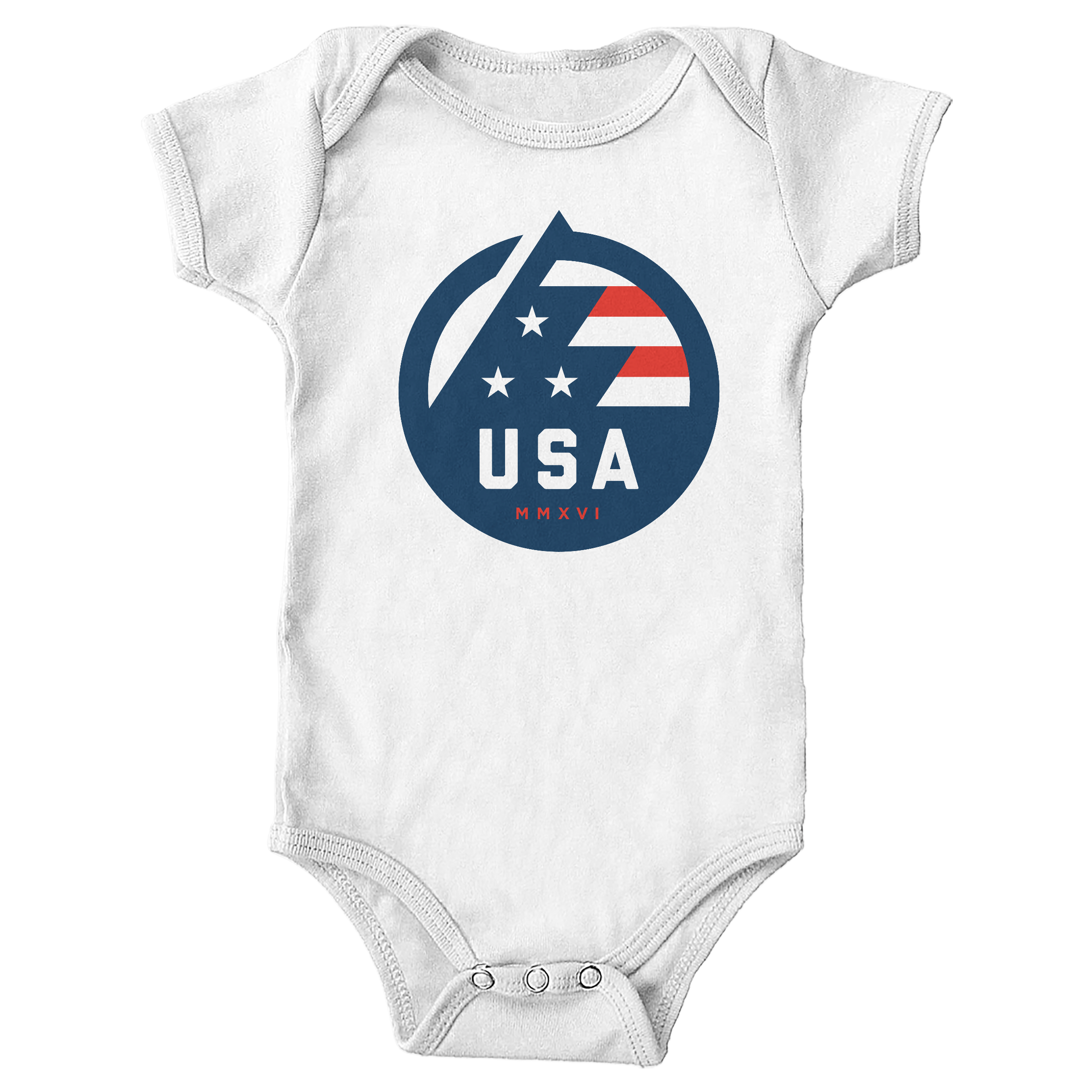 USA All The Way White (Onesie)
