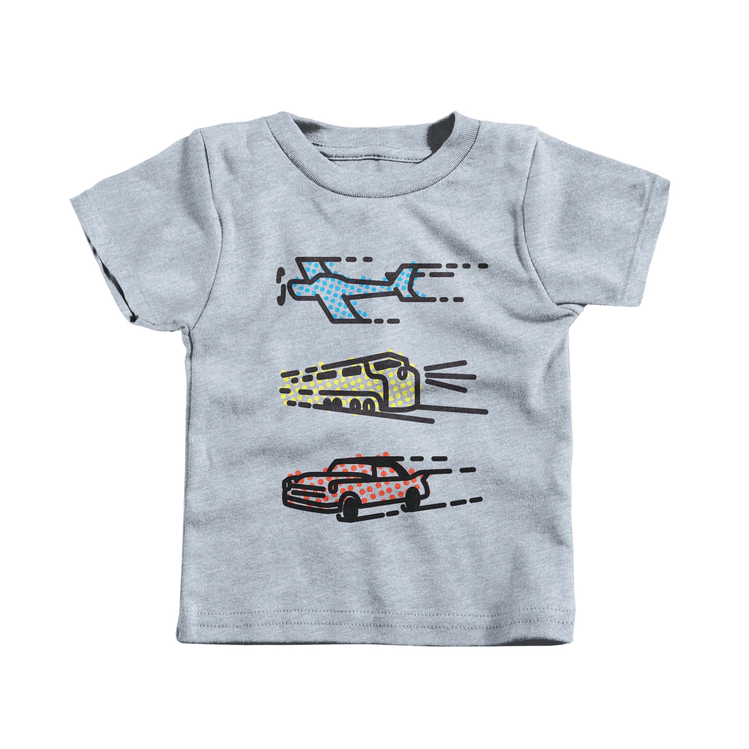 Plane, Train & Automobile Heather Grey (Infant)