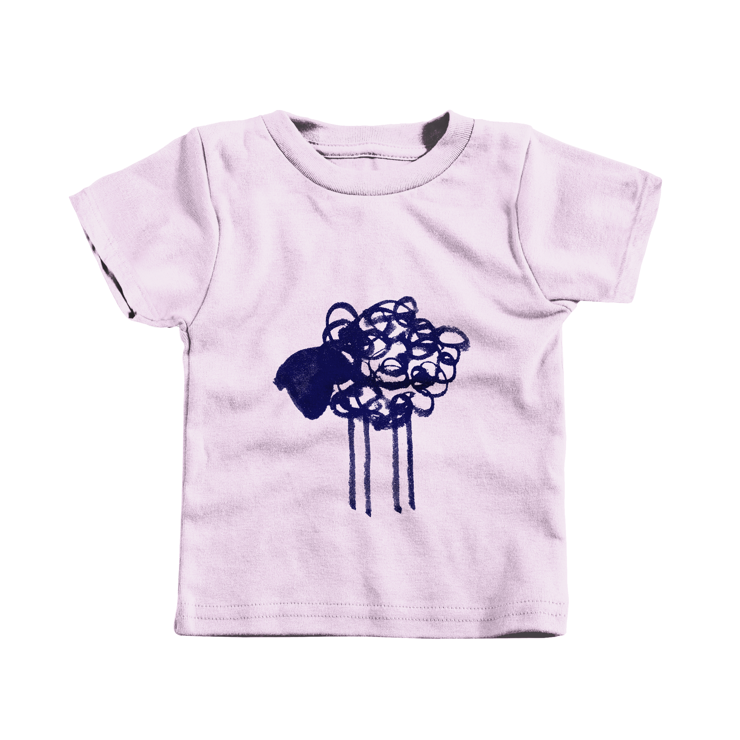 Scribble Sheep Pink (T-Shirt)