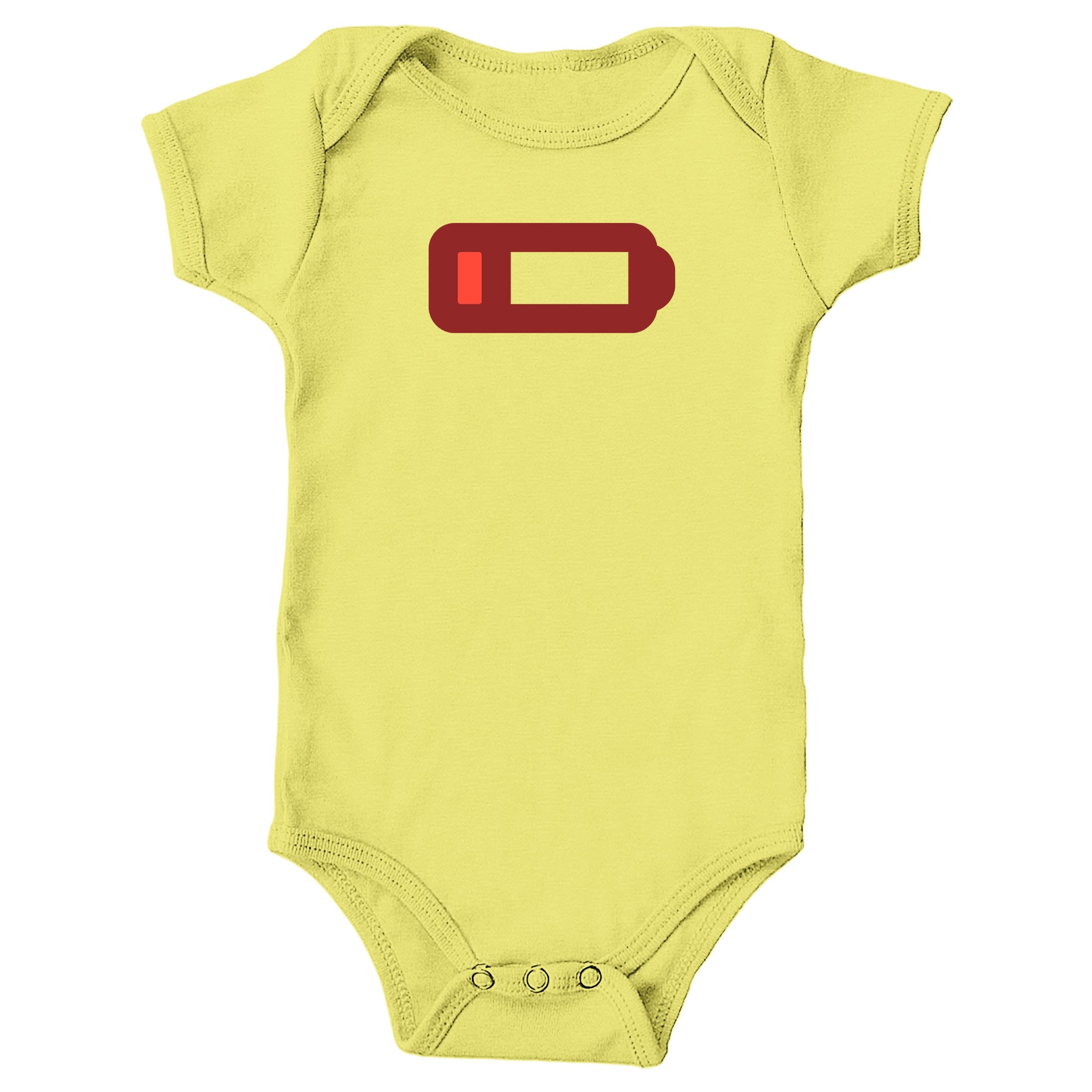 Low Battery Yellow (Onesie)