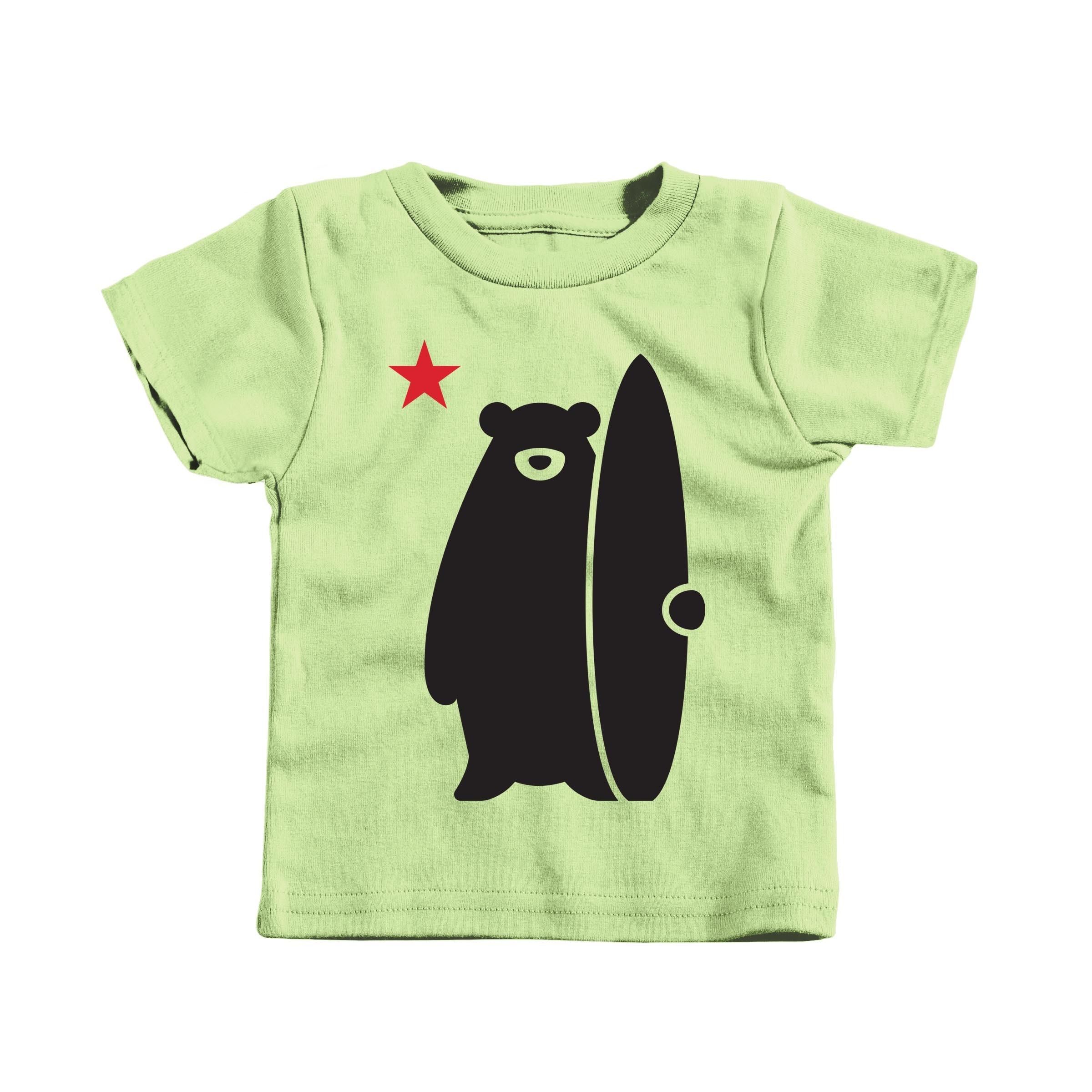 California Surf Bear Key Lime (T-Shirt)
