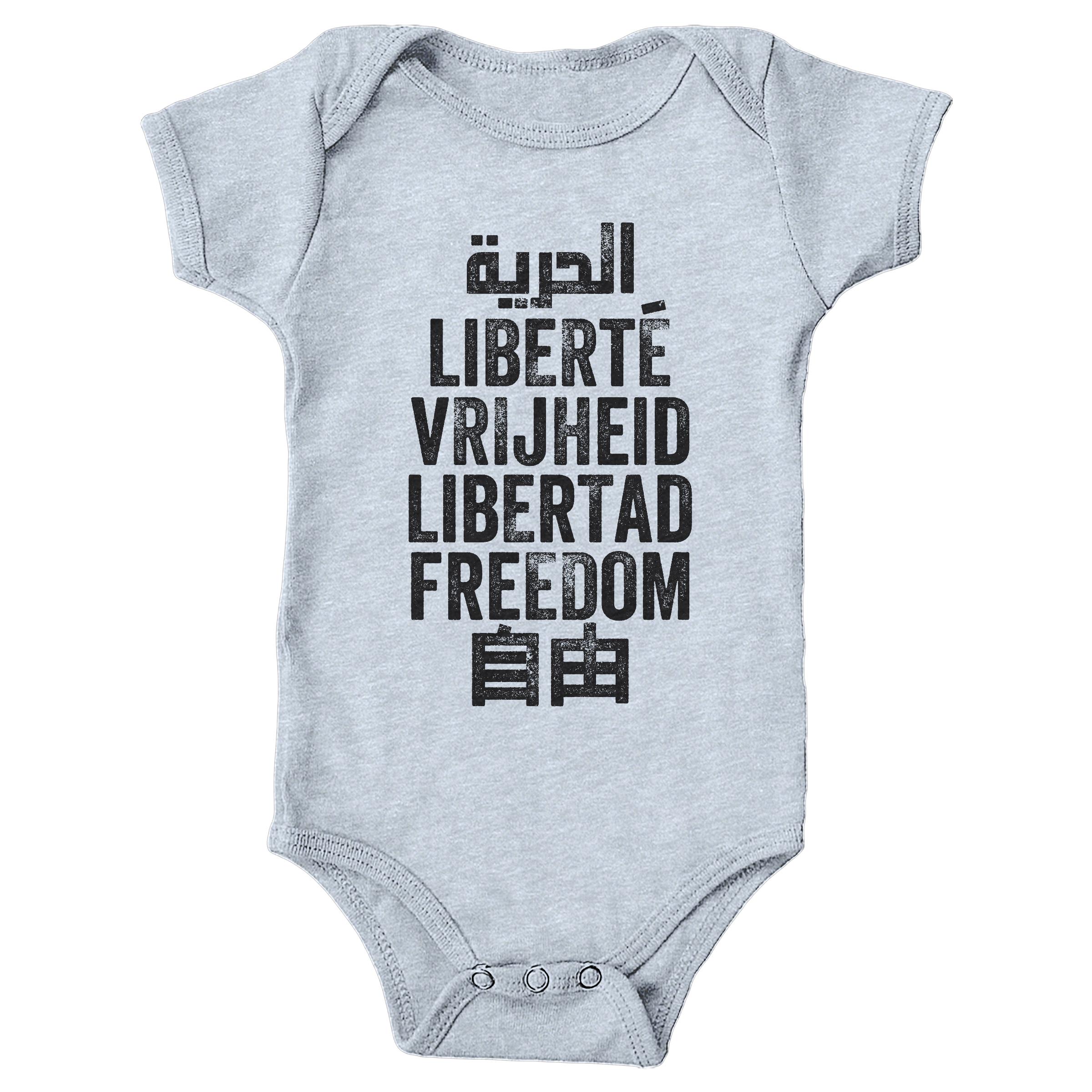 Freedom is a Universal Language Heather Grey (Onesie)