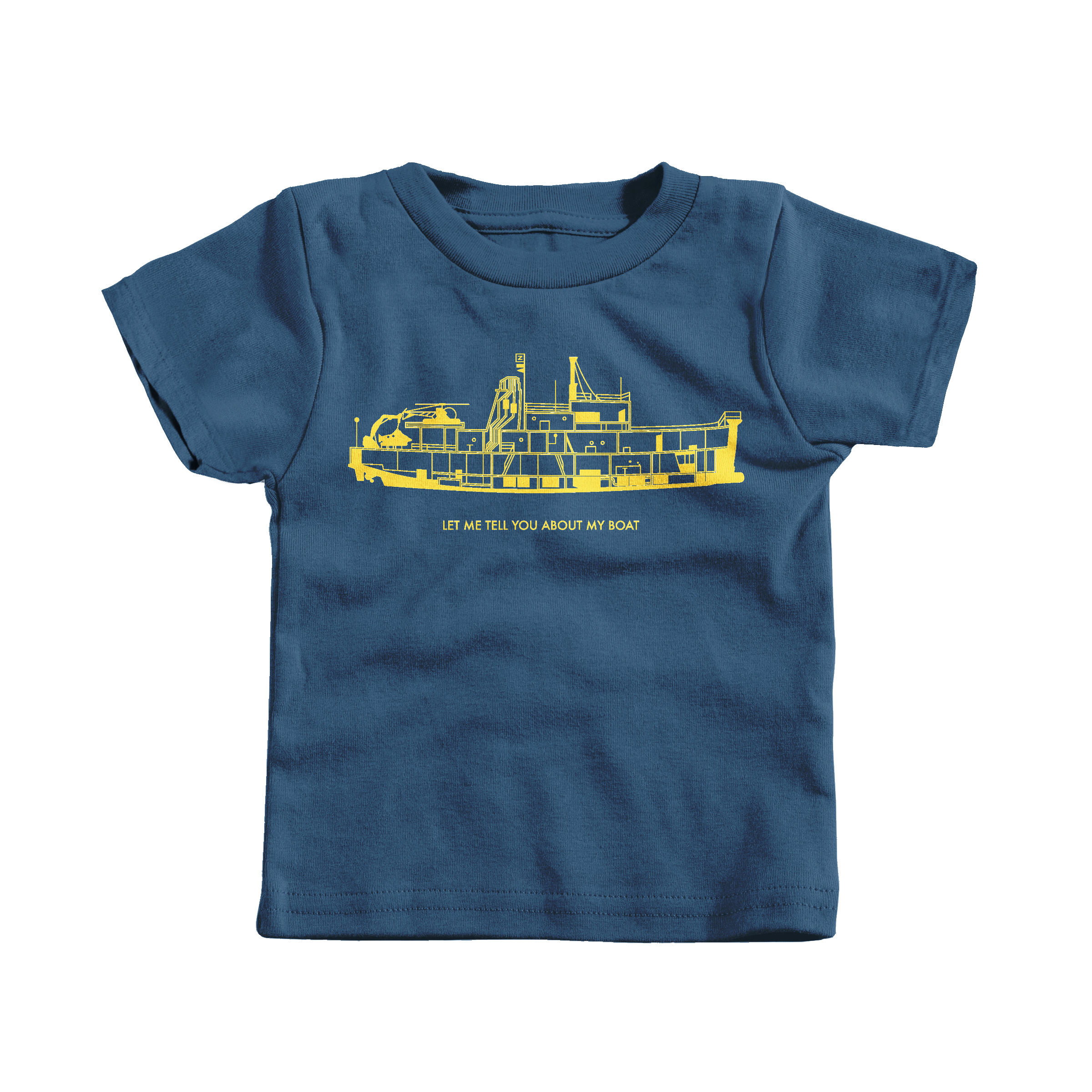 Let Me Tell You About My Boat Navy (T-Shirt)